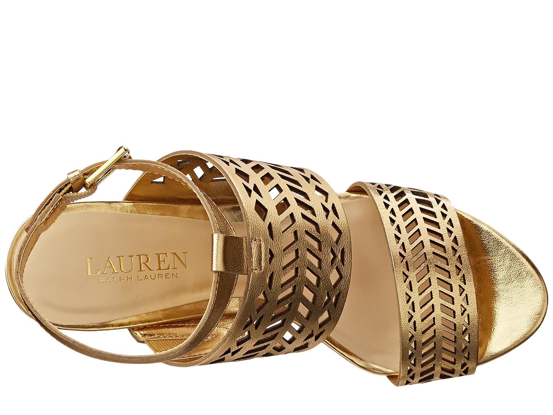 Lauren By Ralph Lauren Leather Georgina In Metallic Lyst