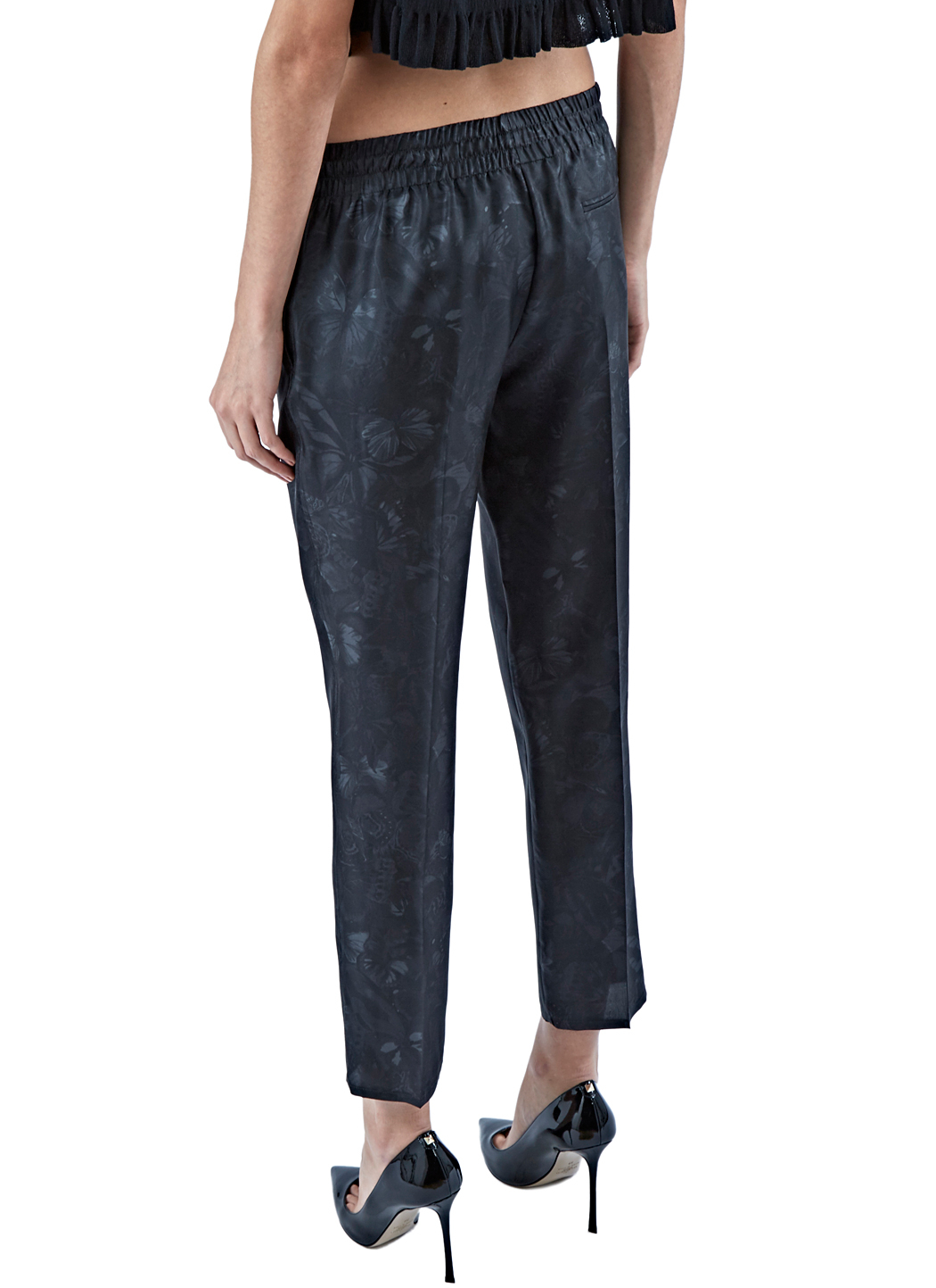 Valentino Women's Printed Silk Pants In Black in Black | Lyst