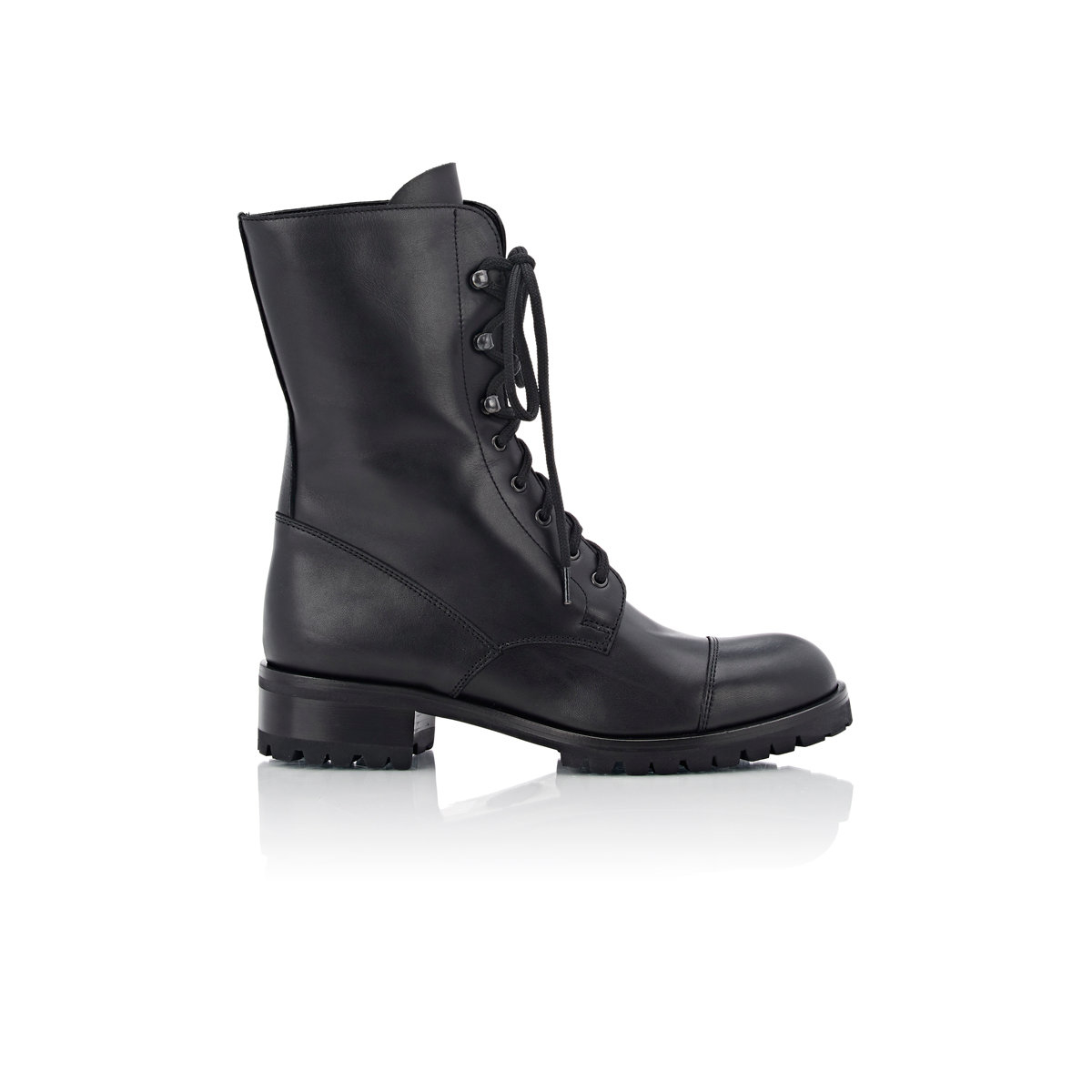 barneys new york women 39 s yara combat boots in black lyst. Black Bedroom Furniture Sets. Home Design Ideas