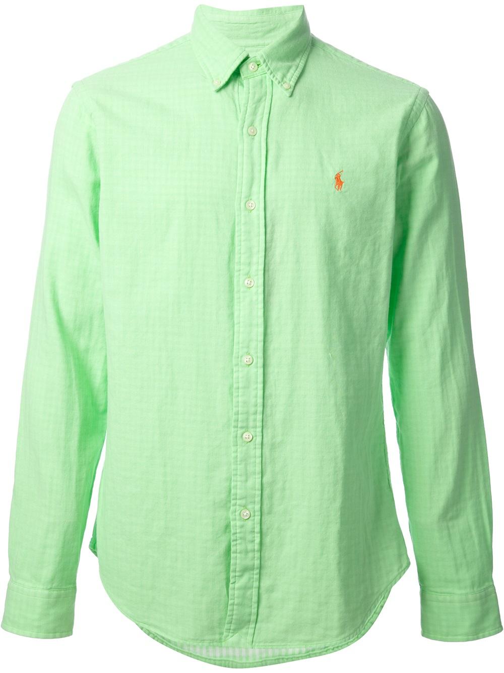 Polo Ralph Lauren Button Down Shirt In Green For Men Lyst
