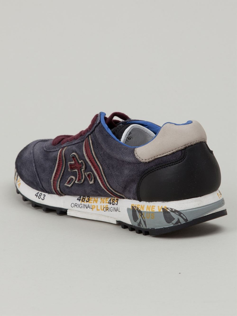 Blue and gray Lucy sneakers Premiata NWO6ccc6rl