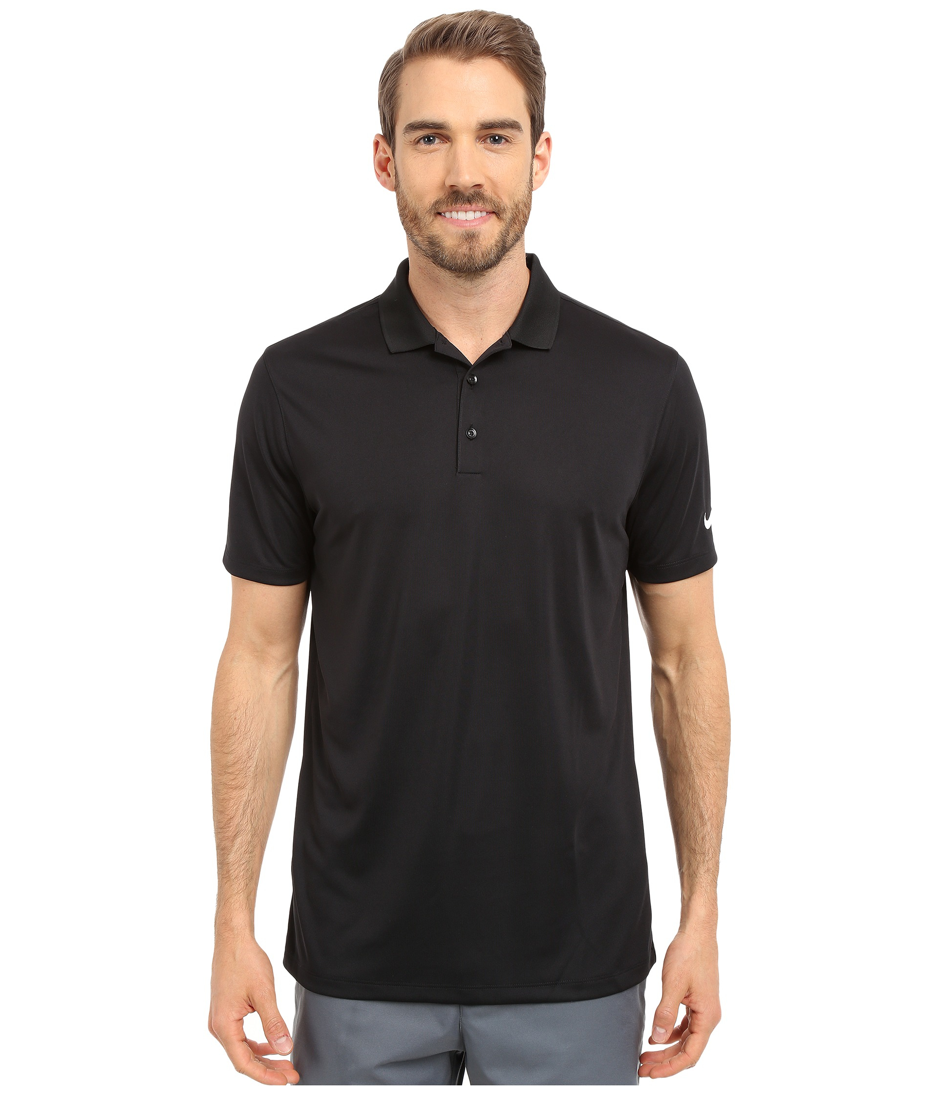 b6feb5913 Nike Victory Solid Polo in Black for Men | Lyst. Nike Victory Solid Polo In  Black For Men Lyst