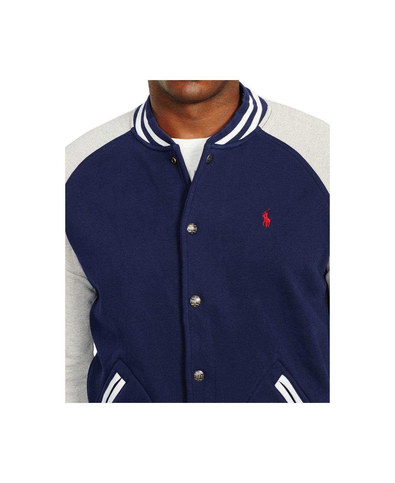 Lyst Polo Ralph Lauren Big Tall Fleece Baseball Jacket