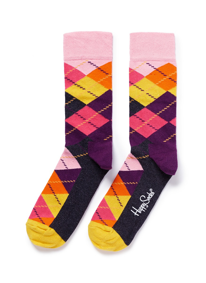 Happy socks Argyle Socks in Multicolor | Lyst