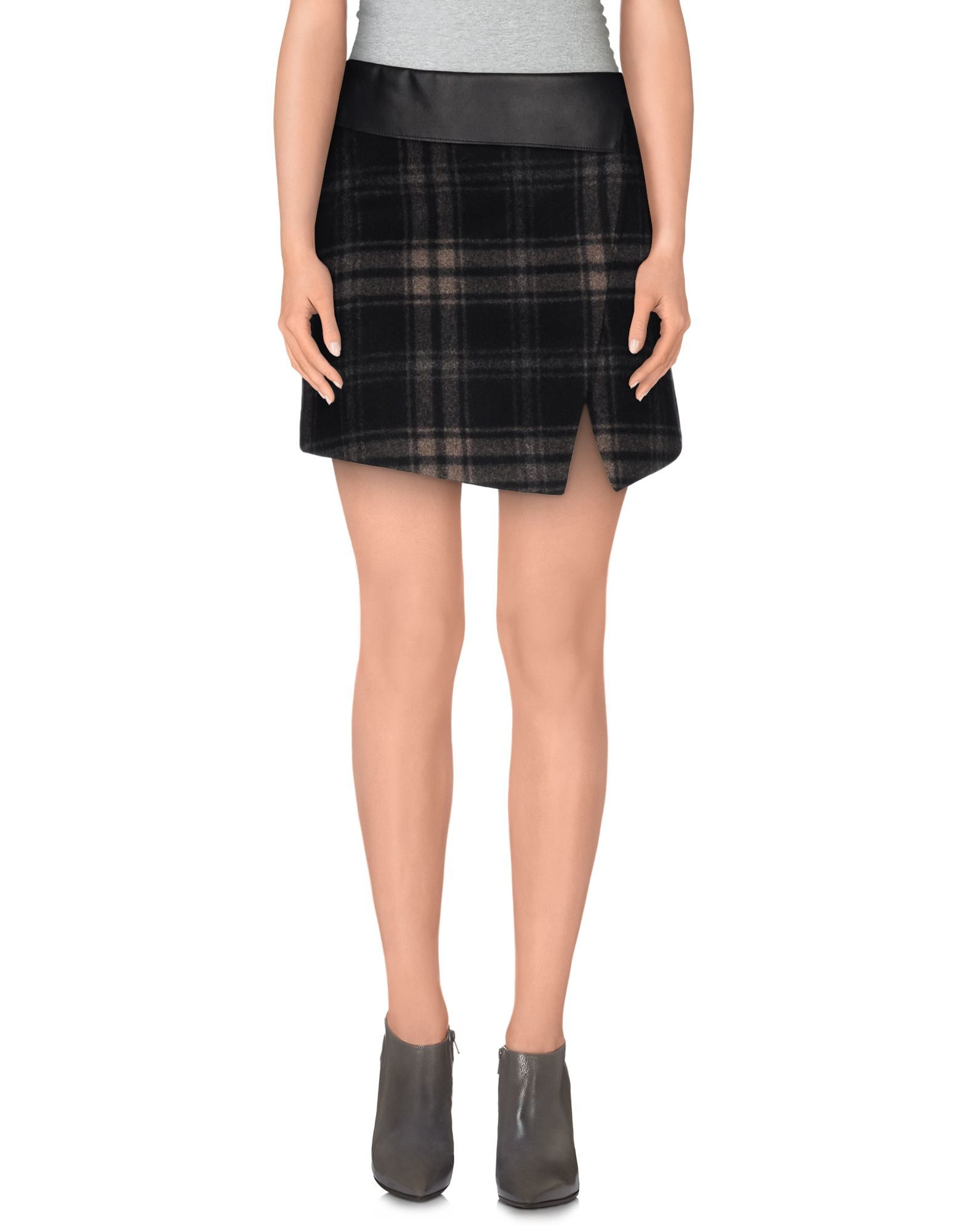 richmond denim mini skirt in black save 53 lyst