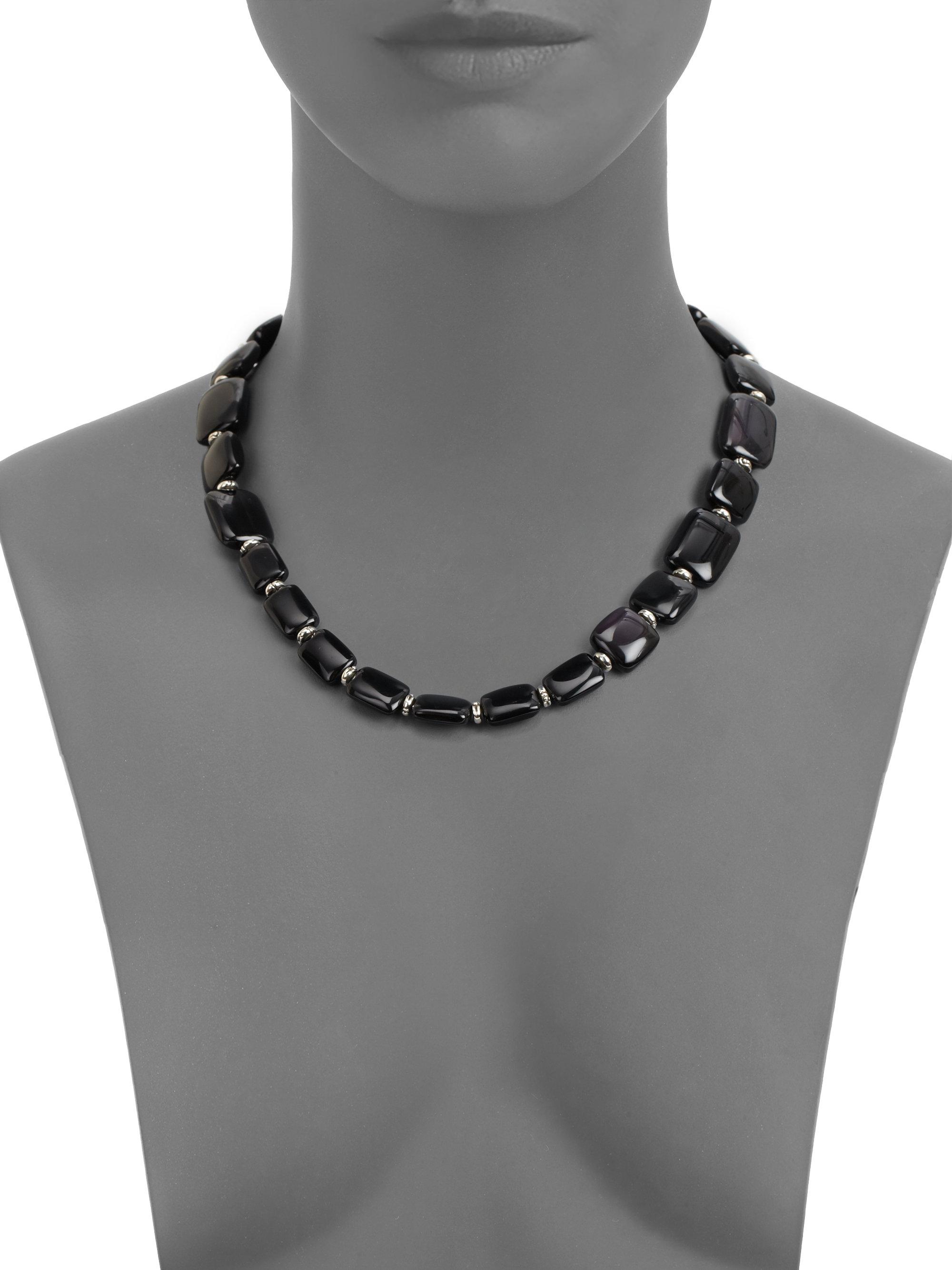 5cec7b3ecc769 John Hardy Black Obsidian Black Sapphire Sterling Silver Necklace