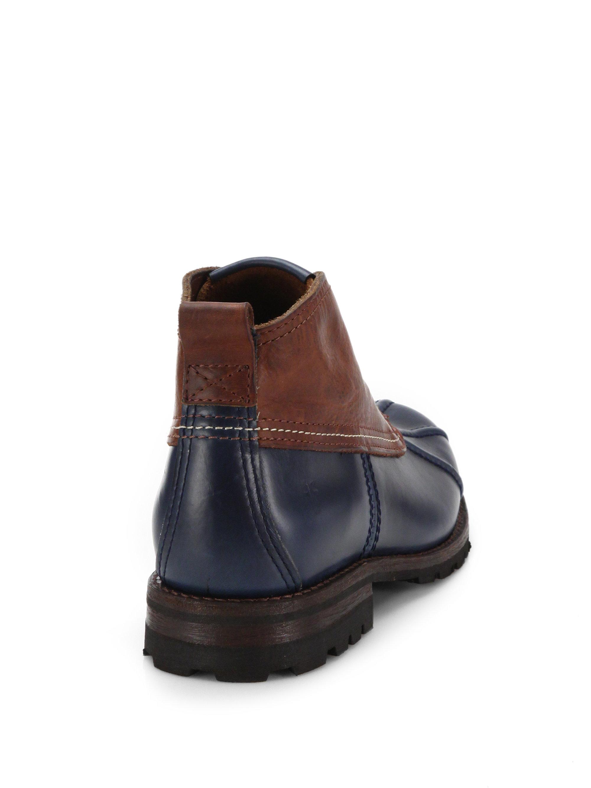 Frye Leather Warren Low Duck Boots In Blue For Men Lyst