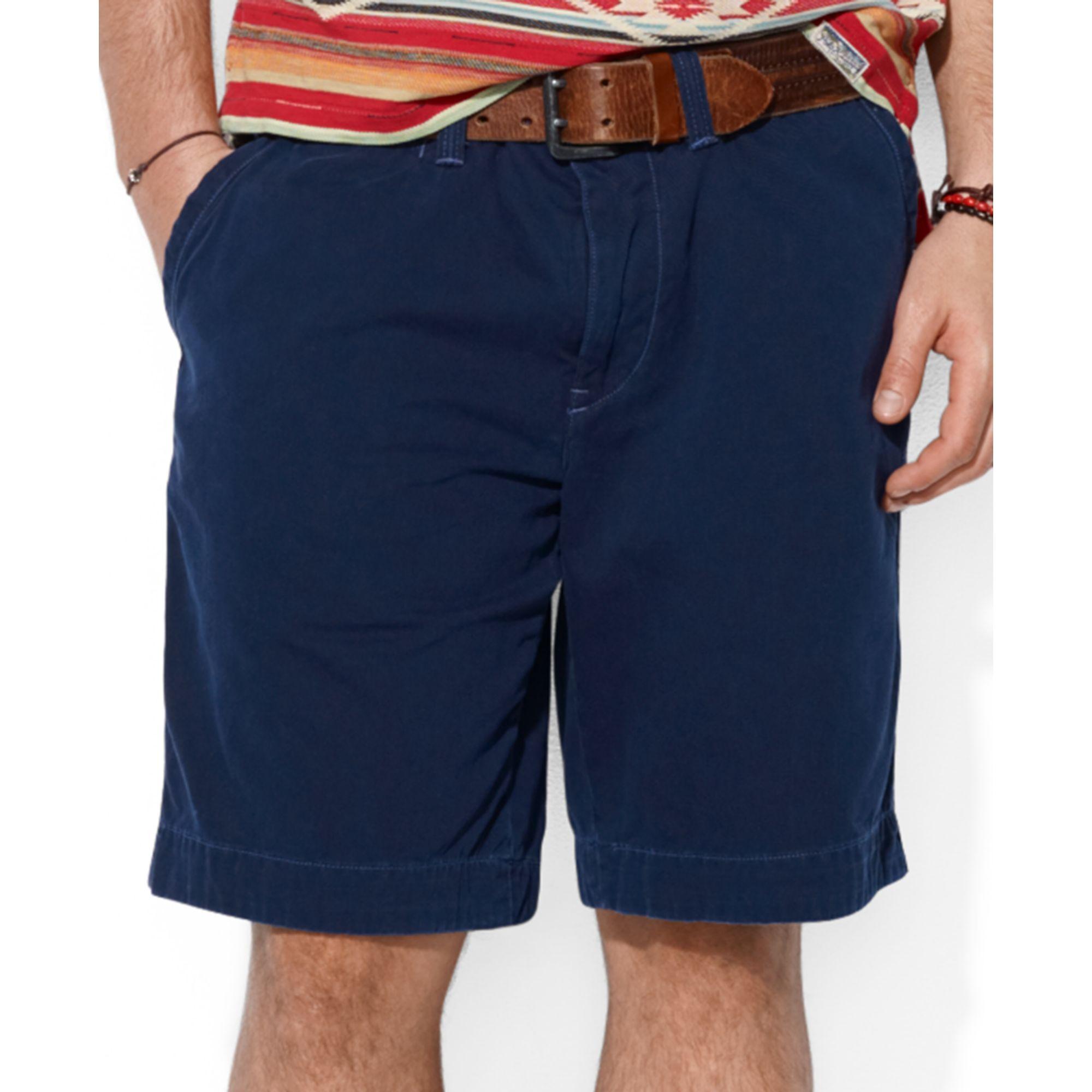 5a86dec51b8e2 Lyst - Ralph Lauren Polo Relaxed Fit Rugged Bleecker Shorts in Blue ...