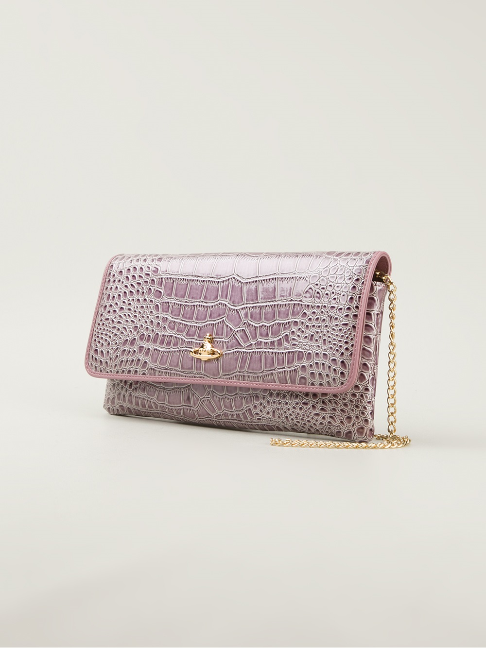 a32db628404d8 Lyst - Vivienne Westwood Chancery Clutch in Pink