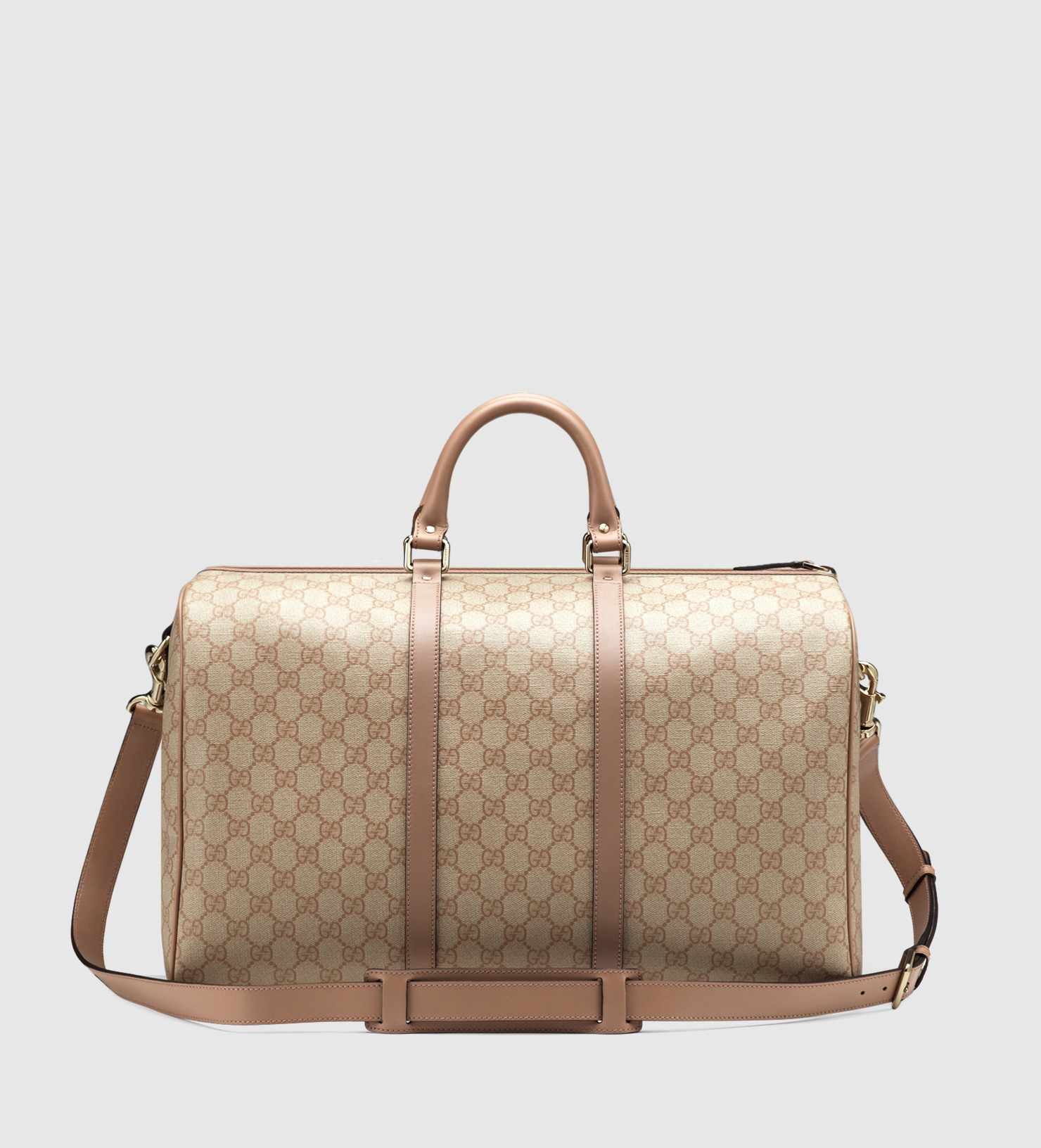 a5b29f366e35 Gucci Gg Supreme Canvas Carry-on Duffle Bag in Natural - Lyst