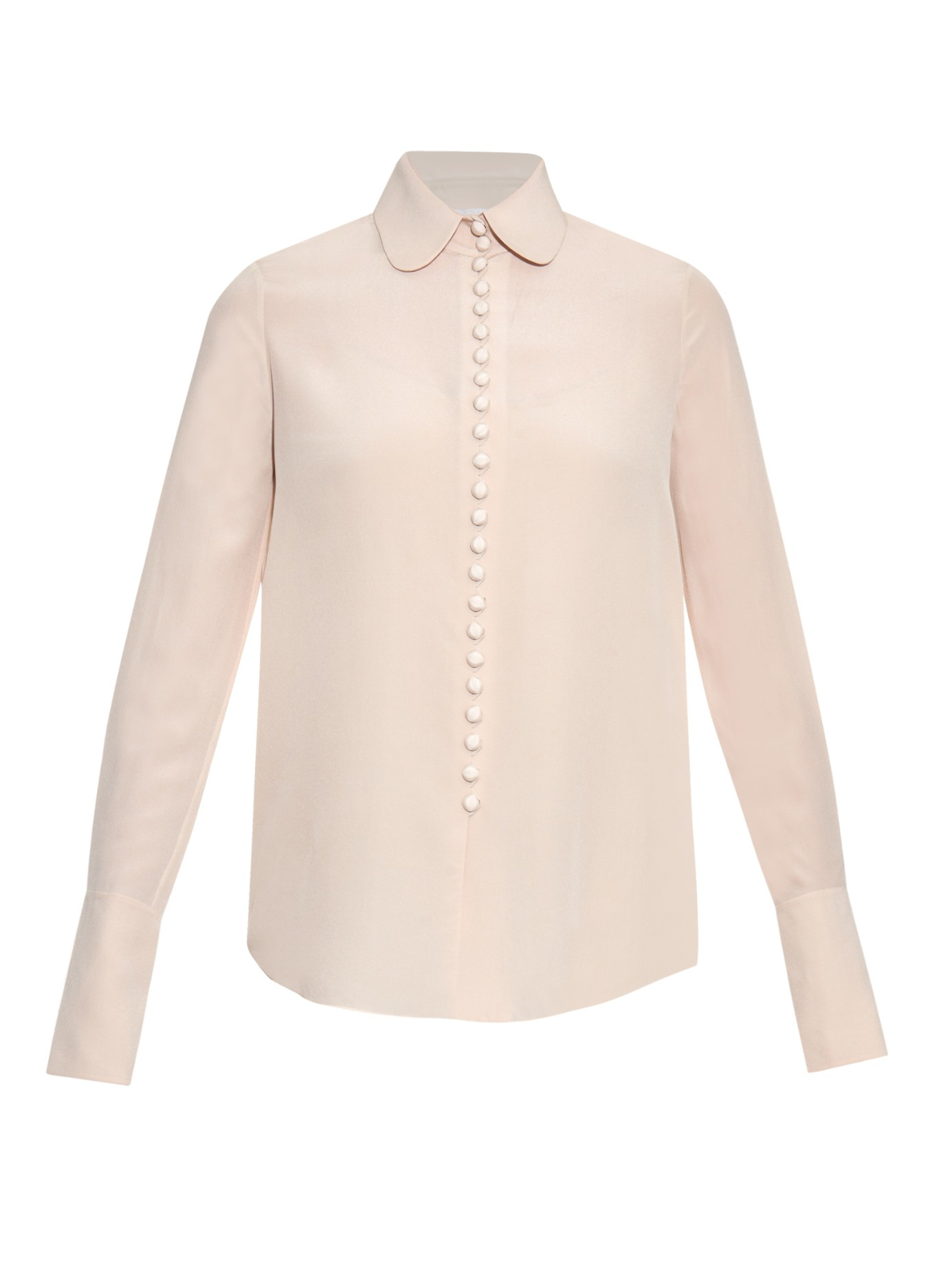 197db6904cda7 Lyst - Chloé Button-through Silk Blouse in White