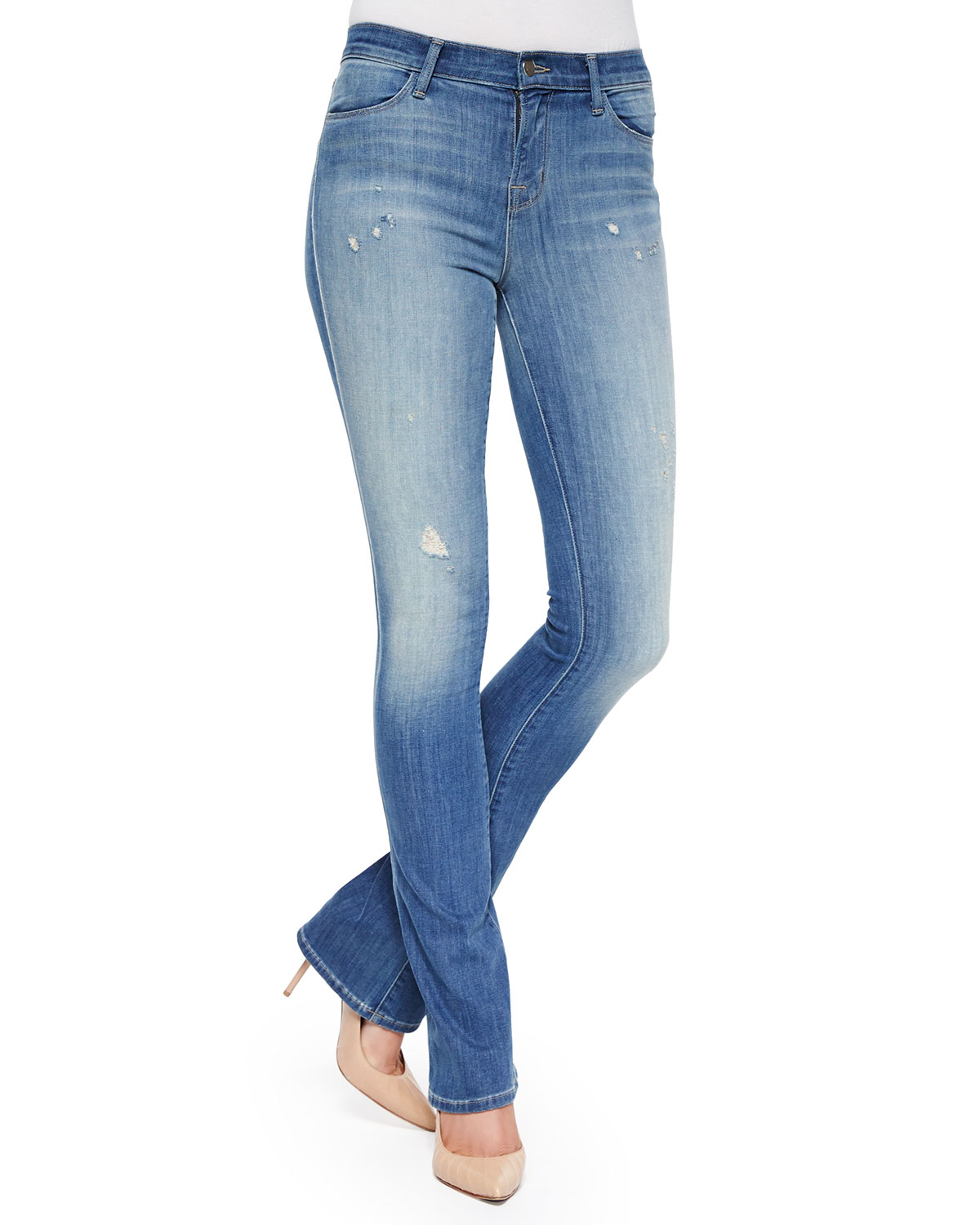 J brand Remy Faded Boot-cut Jeans in Blue | Lyst