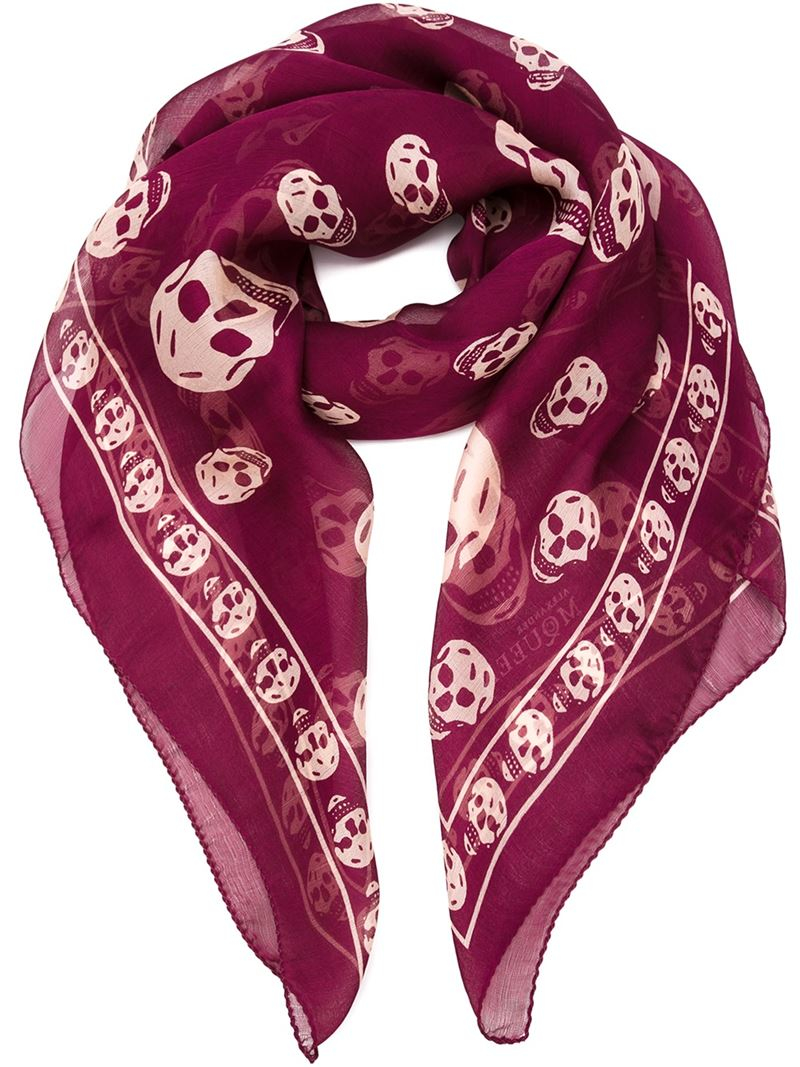 dress - Mcqueen Alexander skull scarf red video