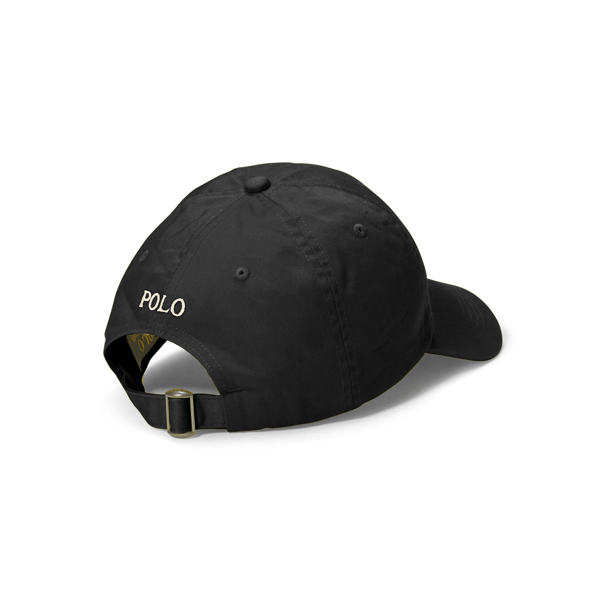 polo ralph lauren polo script chino baseball cap in black for men lyst. Black Bedroom Furniture Sets. Home Design Ideas