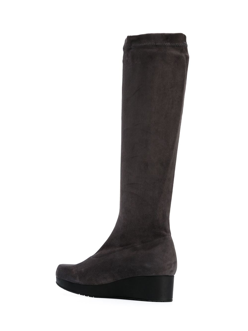 robert clergerie mid calf wedge boots in gray grey lyst