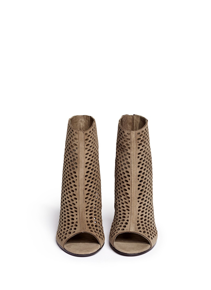 Ash Perforated Peep-Toe Booties sast pick a best sale online sale online for sale 4K1VSVozR