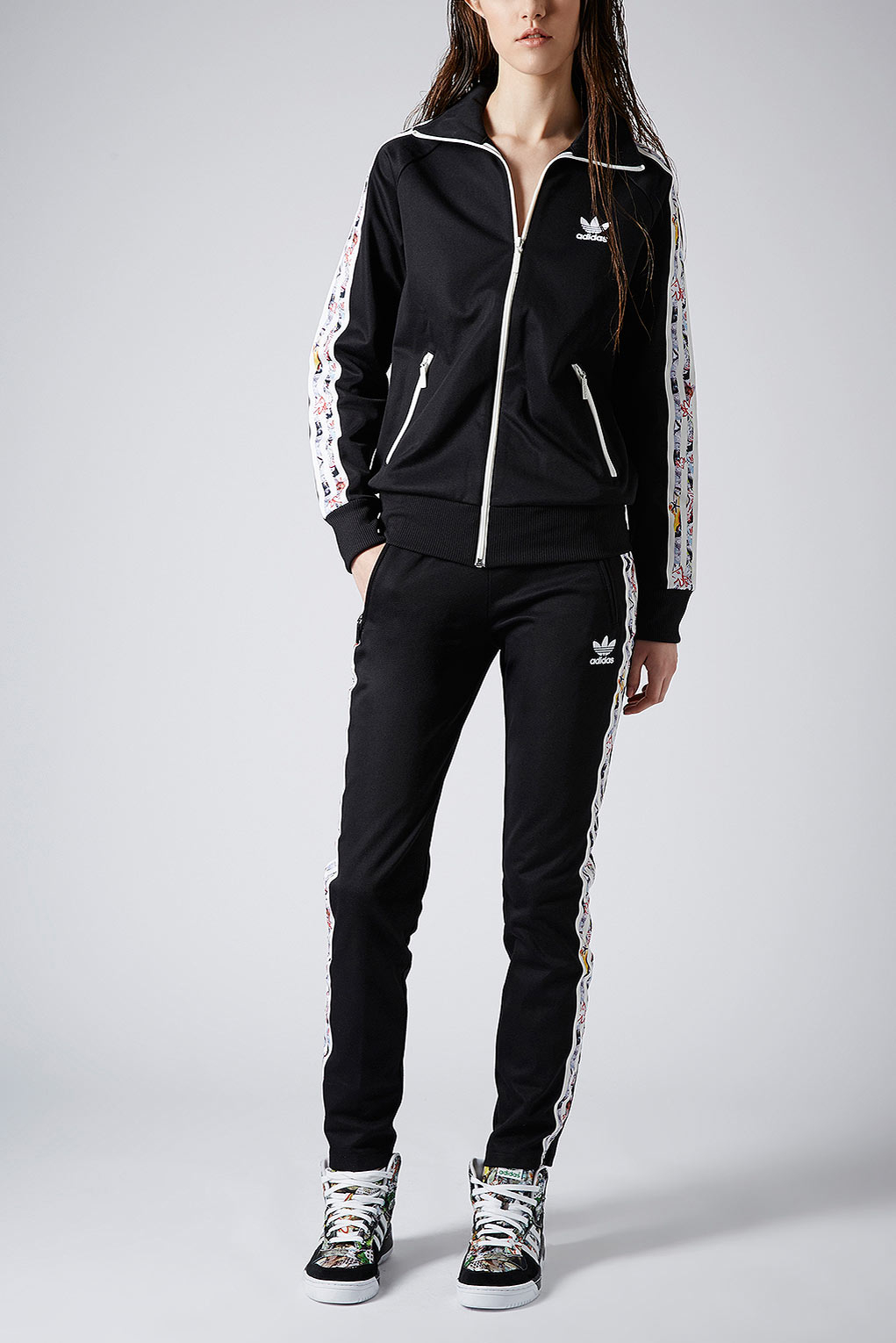 TOPSHOP Track Pants By X Adidas Originals in Black - Lyst