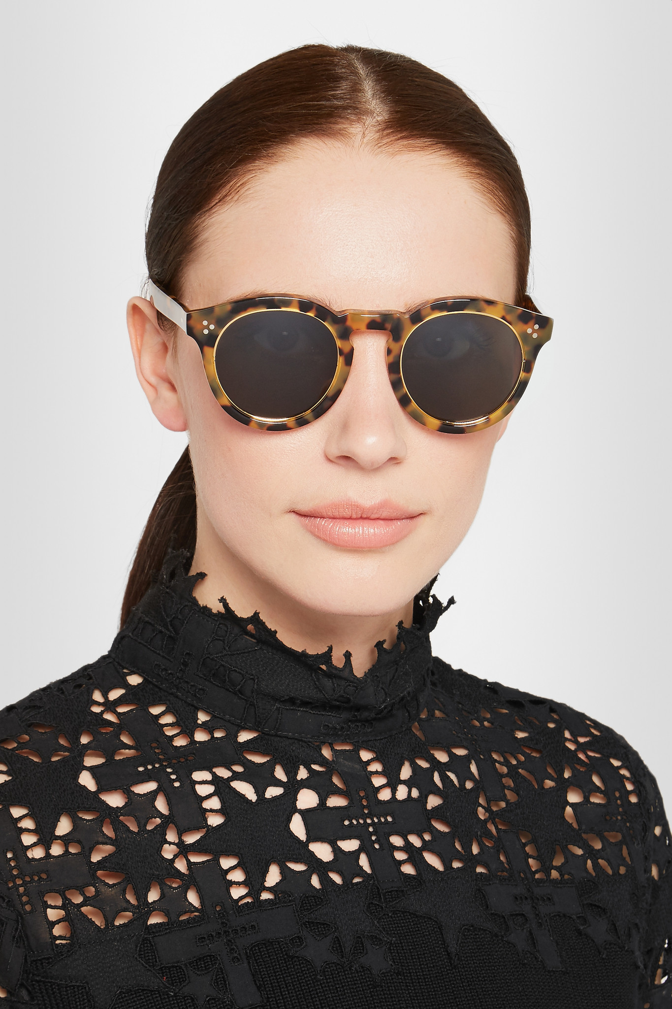 Leonard Round-frame Acetate Sunglasses - Tortoiseshell Illesteva GT17p