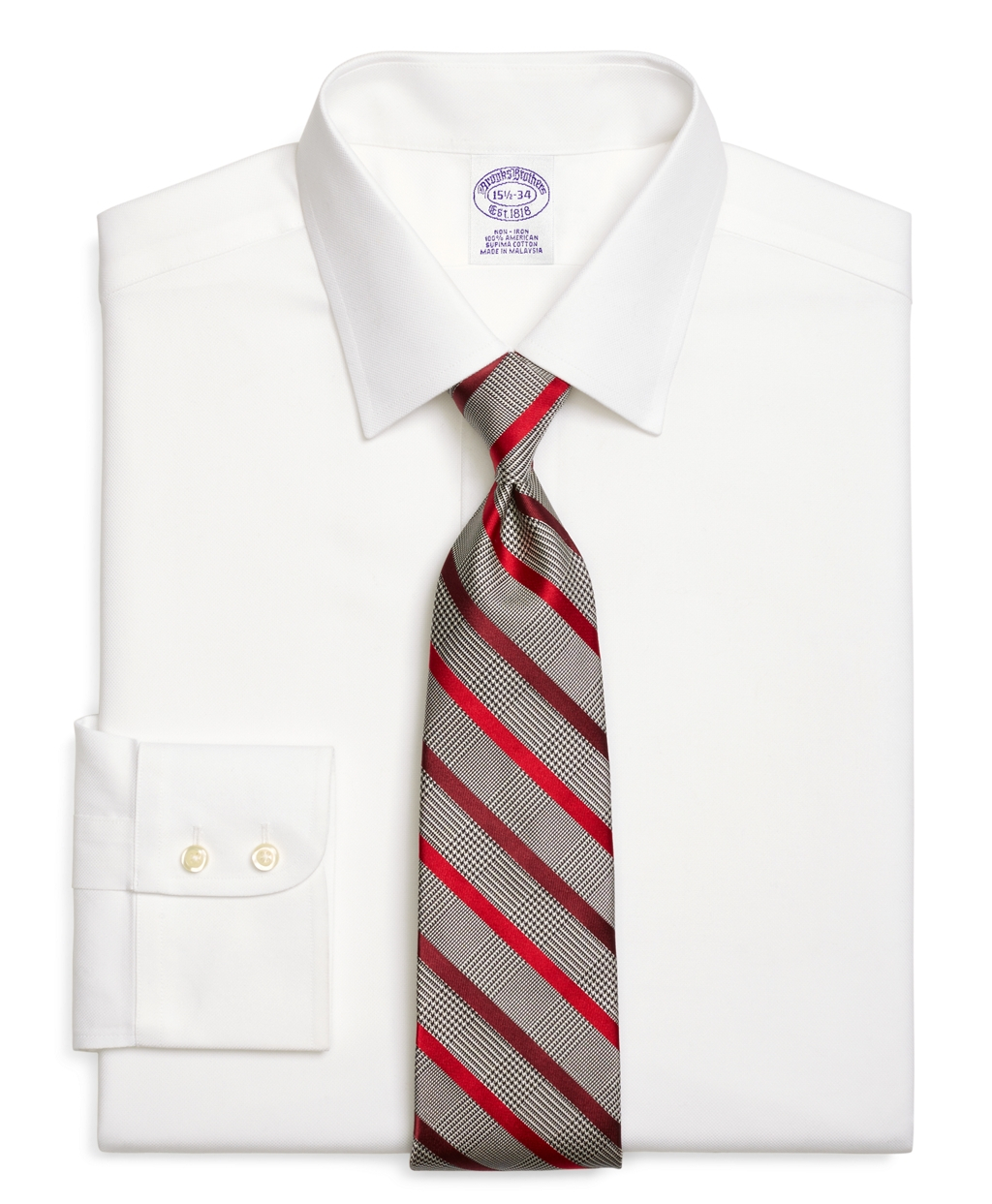 Brooks brothers non iron regent fit royal oxford dress for White non iron dress shirts