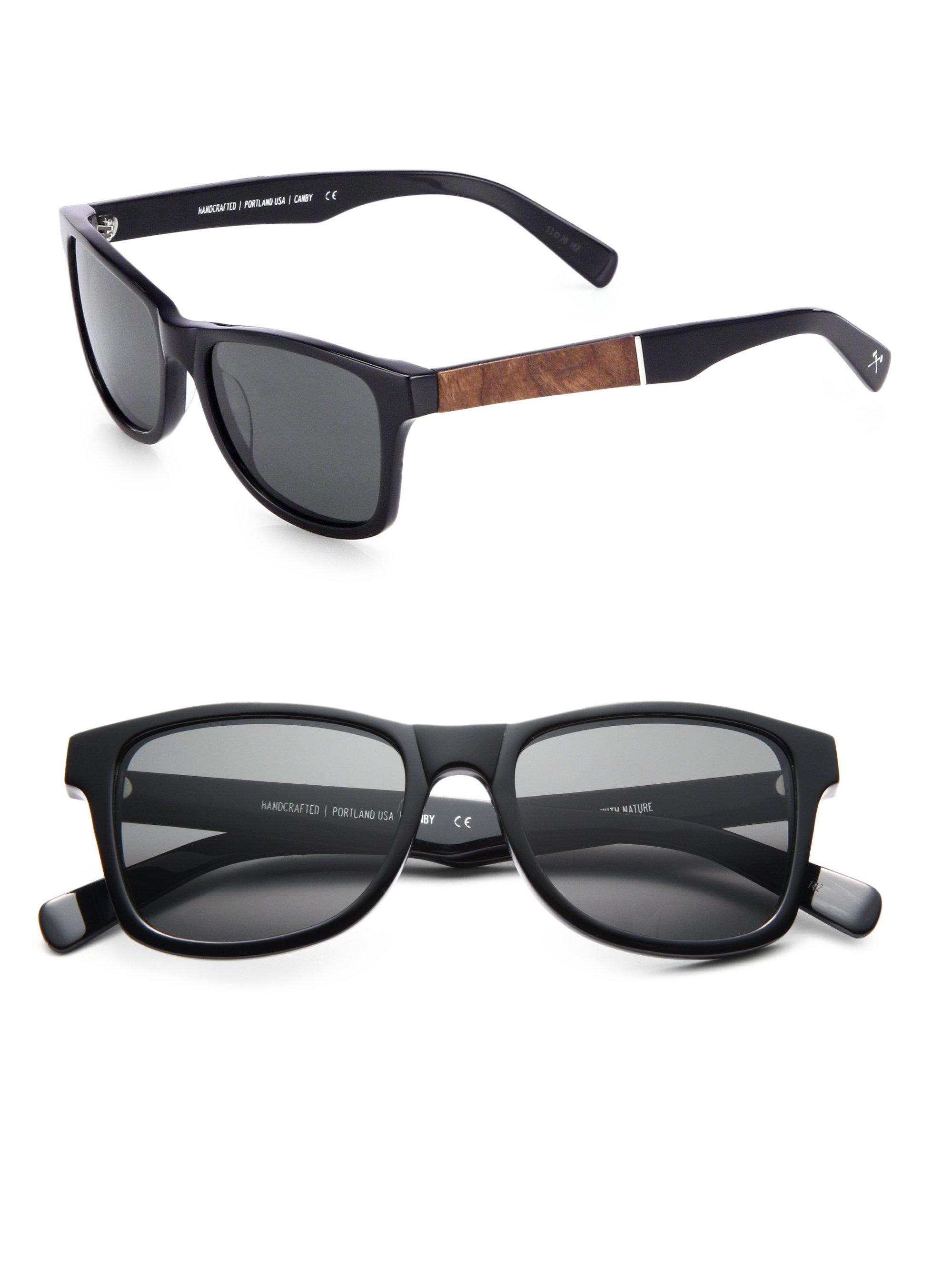 134fe2f68c4 Lyst - Shwood Canby Elm Burl   Acetate Sunglasses in Black for Men