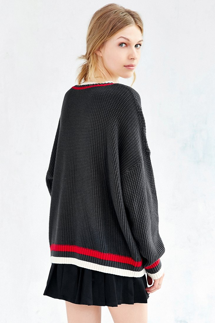 Bdg Oversized Boyfriend Sweater in Gray | Lyst