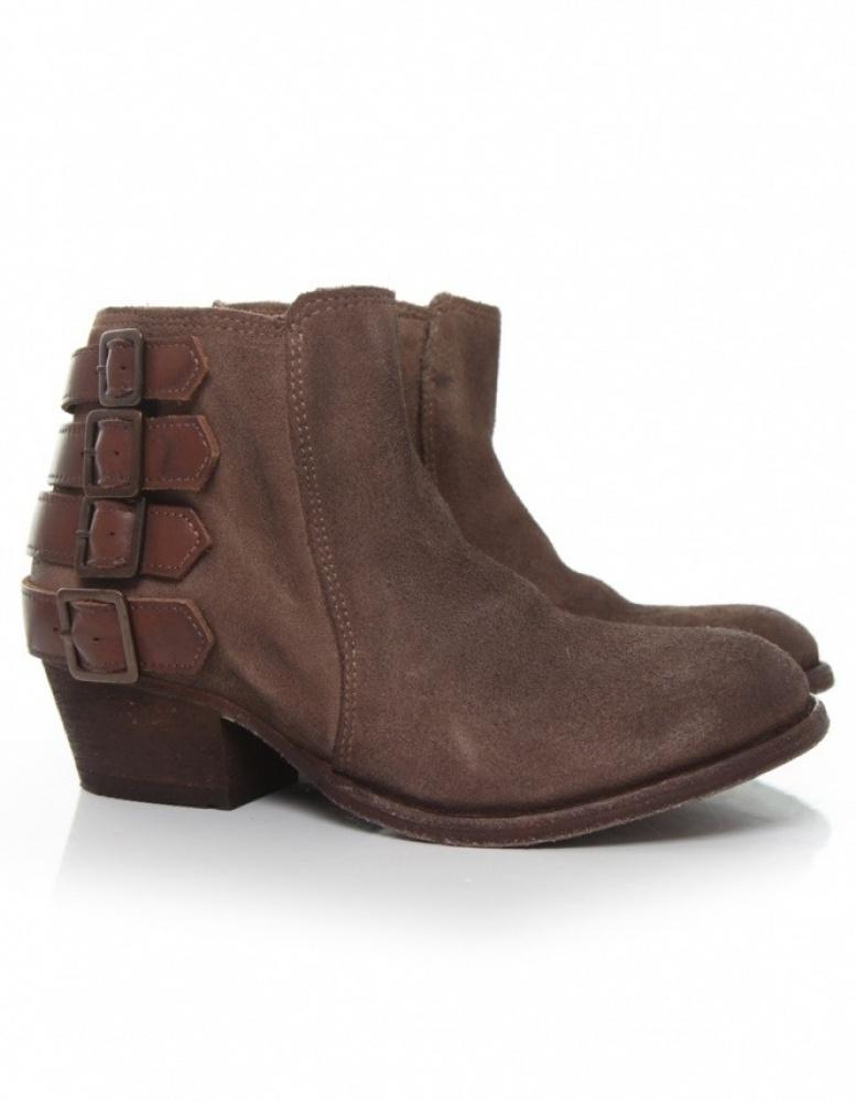 h by hudson suede encke boots in brown lyst. Black Bedroom Furniture Sets. Home Design Ideas