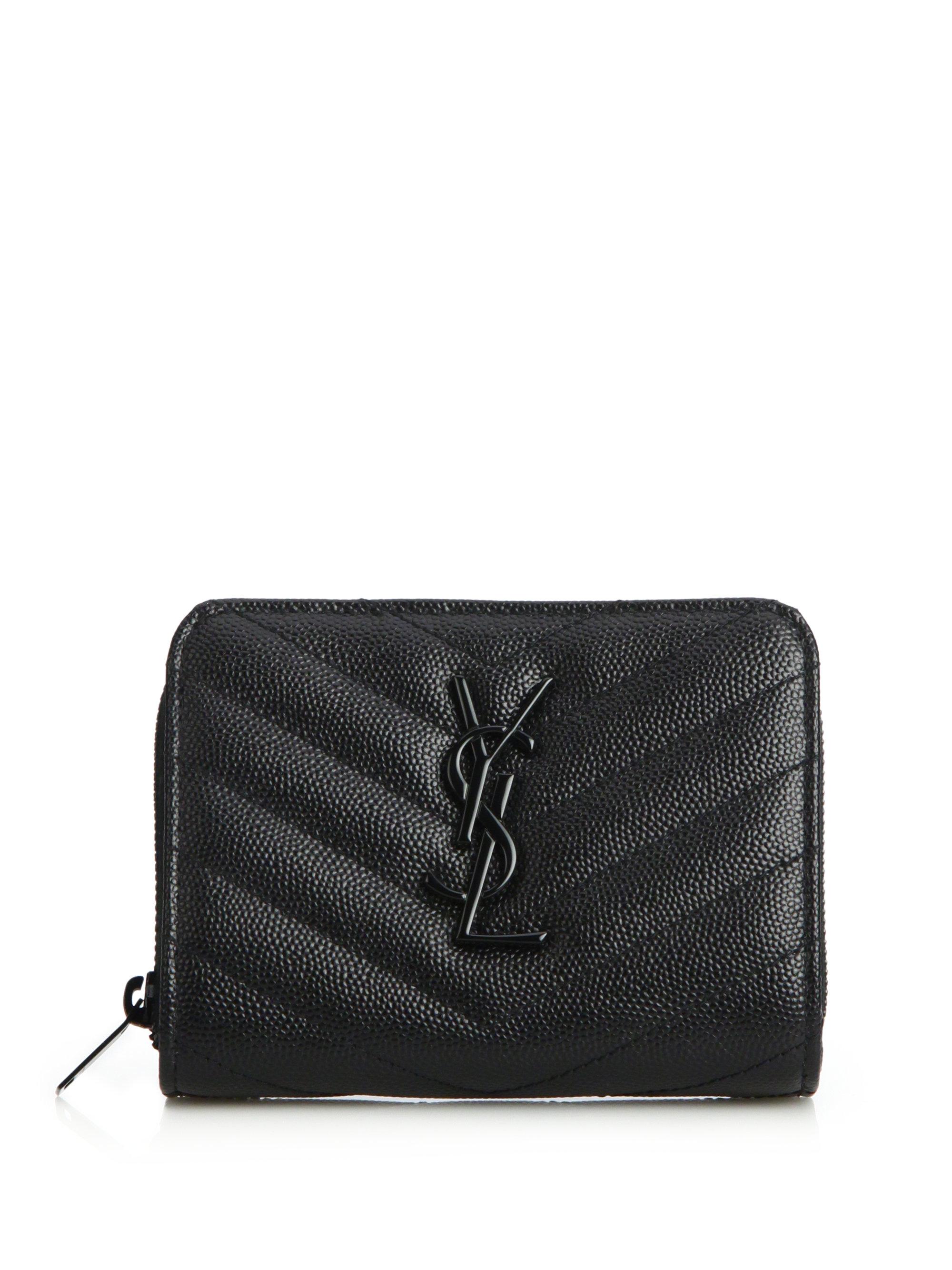 Yves Saint Laurent Monogramme Zip Around Wallet Ysl