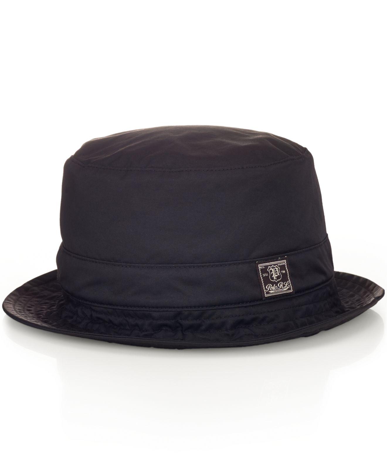 cc823e7e54d Lyst - Polo Ralph Lauren Twill Bucket Hat in Black for Men