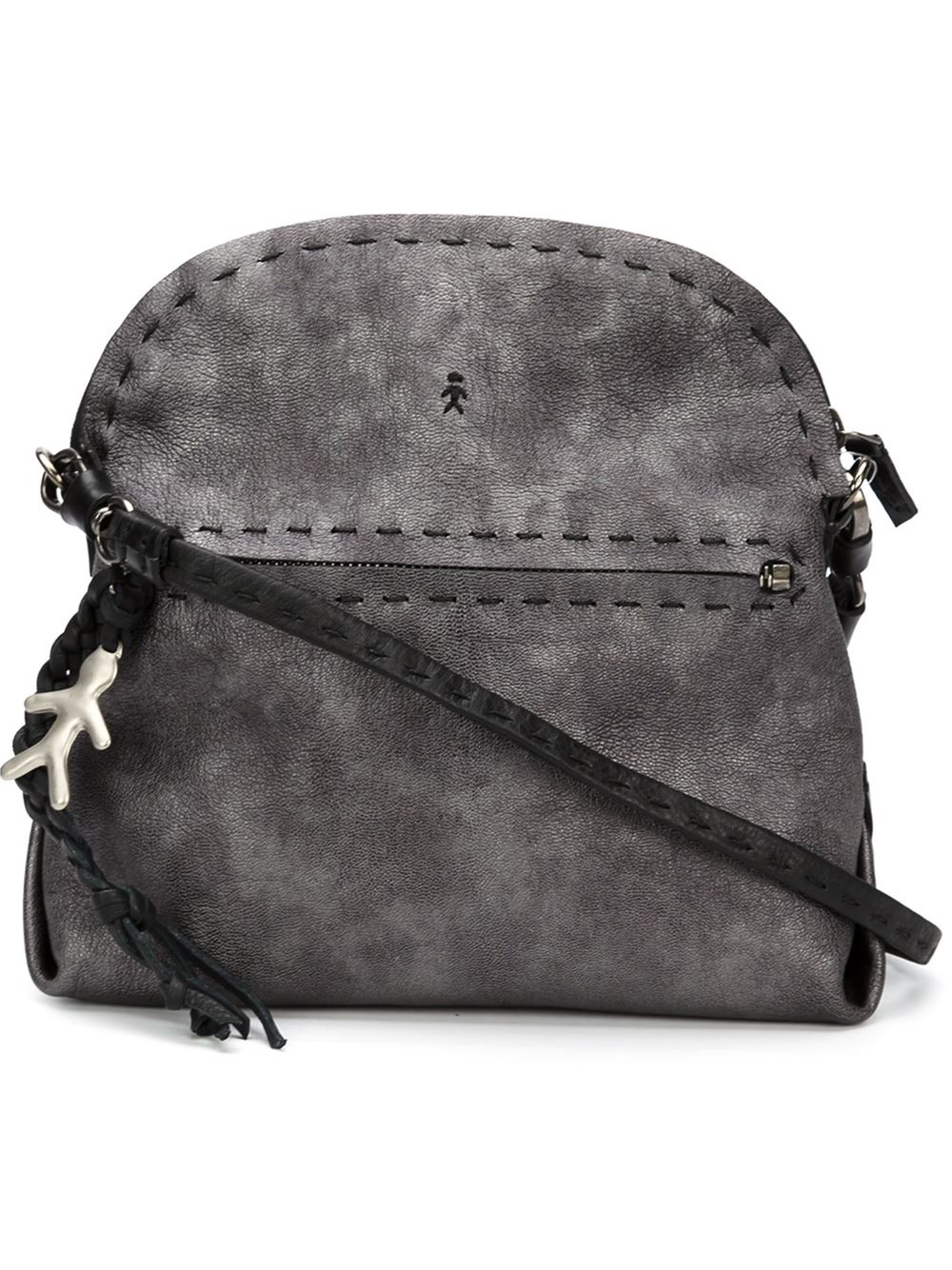 3c852dffd8 Henry Beguelin Stitched Details Shoulder Bag in Gray - Lyst