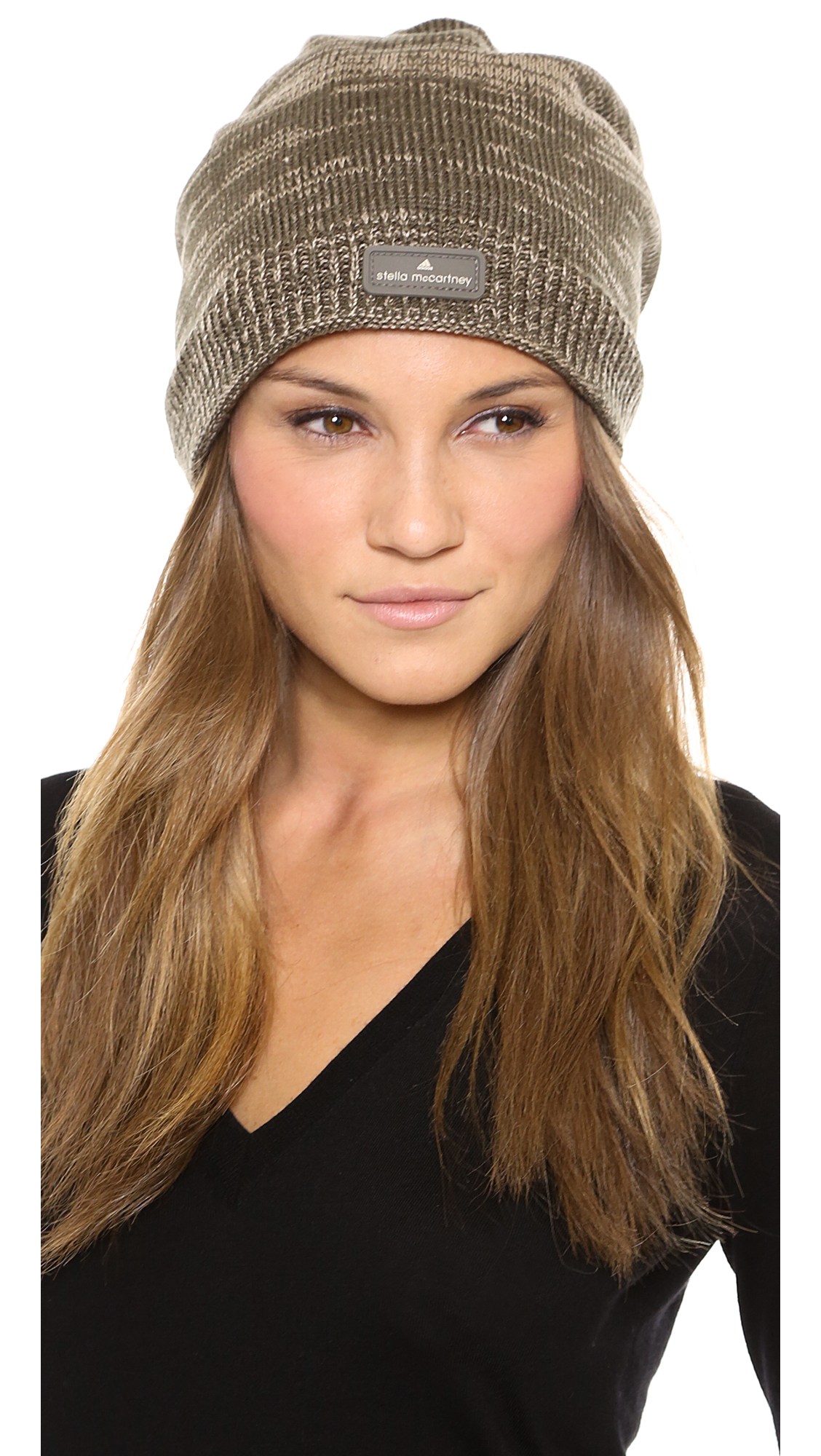 4da143f3 adidas By Stella McCartney Running Beanie Base Brownginger in Brown ...
