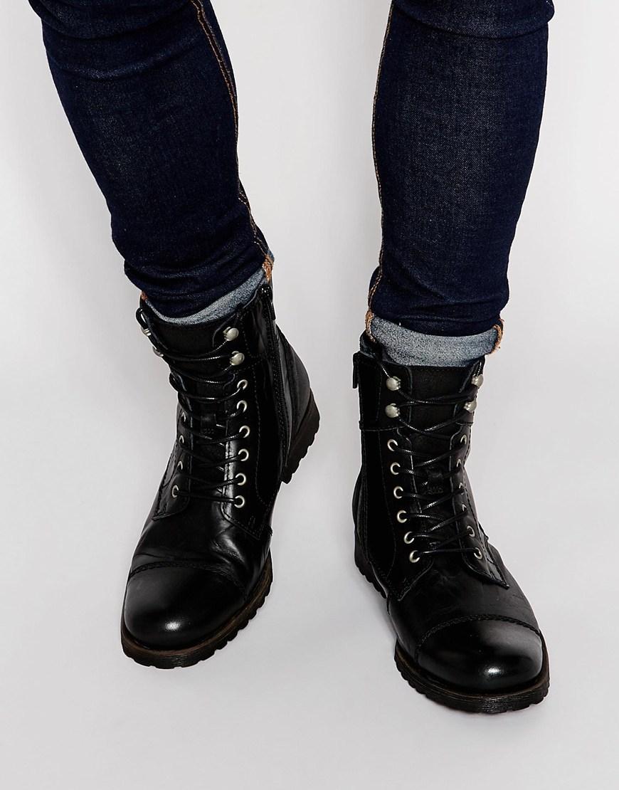 Aldo Graegleah Leather Derby Boots In Black For Men Lyst 870x1110