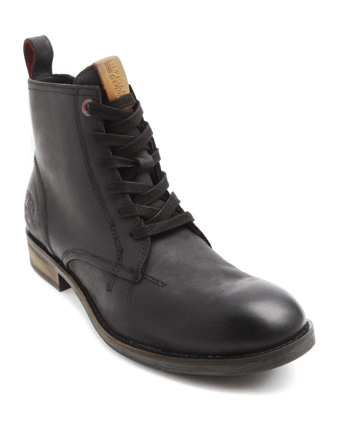 tommy hilfiger darren black zipped boots in black for men. Black Bedroom Furniture Sets. Home Design Ideas