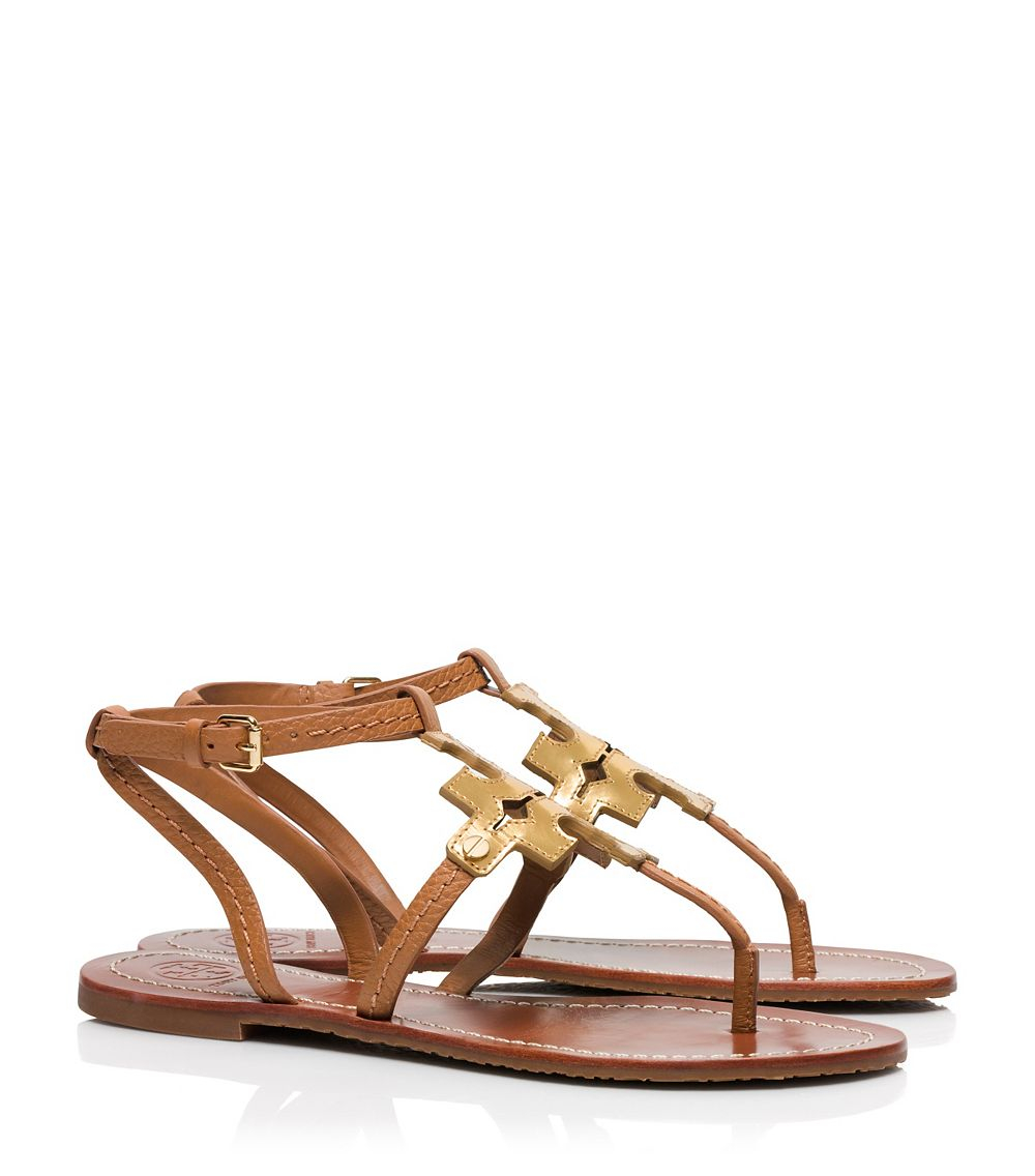 18c5d44af220 ... wholesale lyst tory burch chandler flat sandal in brown eba7a d400b