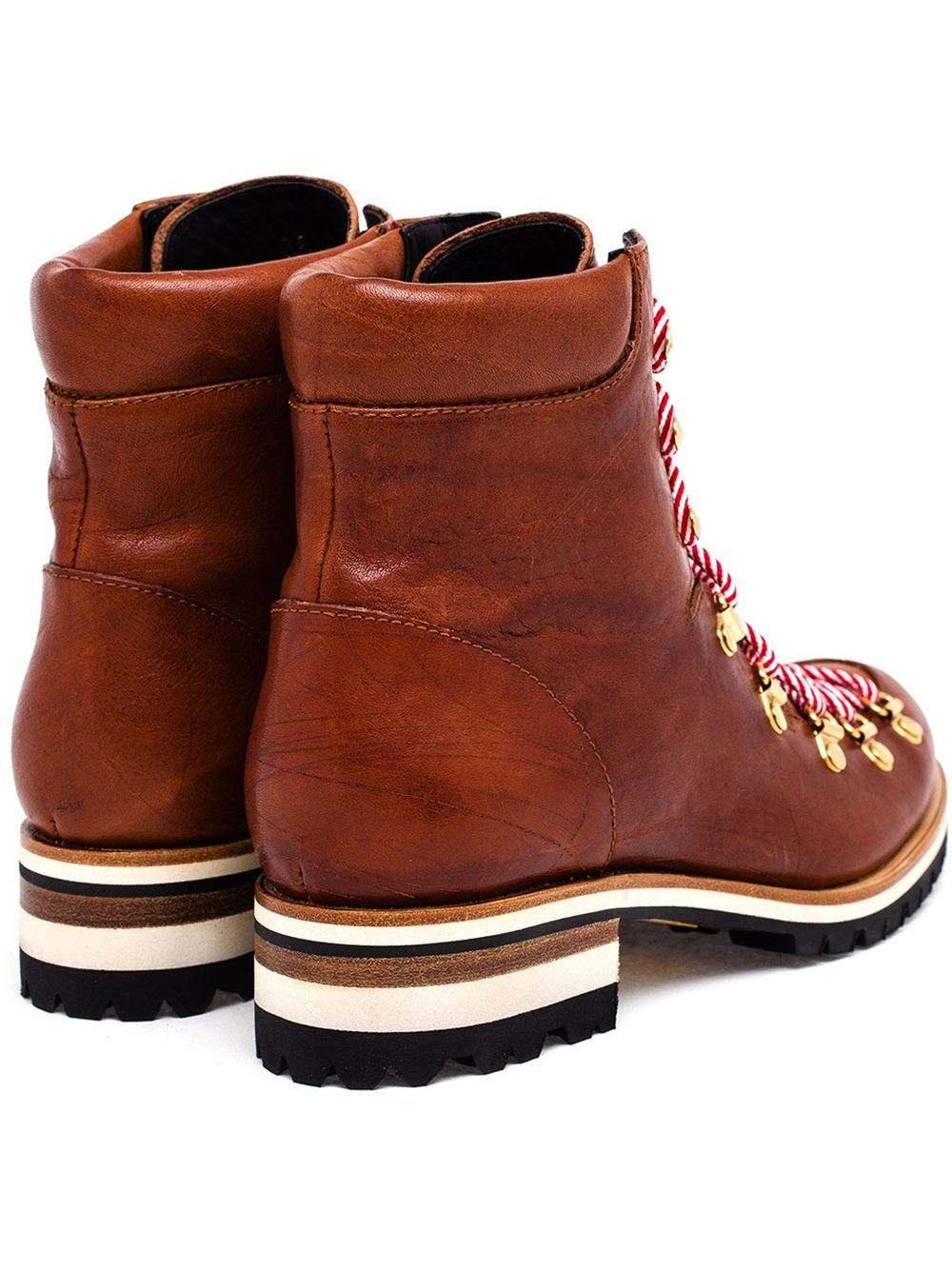 Rupert Sanderson Hiking Style Ankle Boots In Brown Lyst