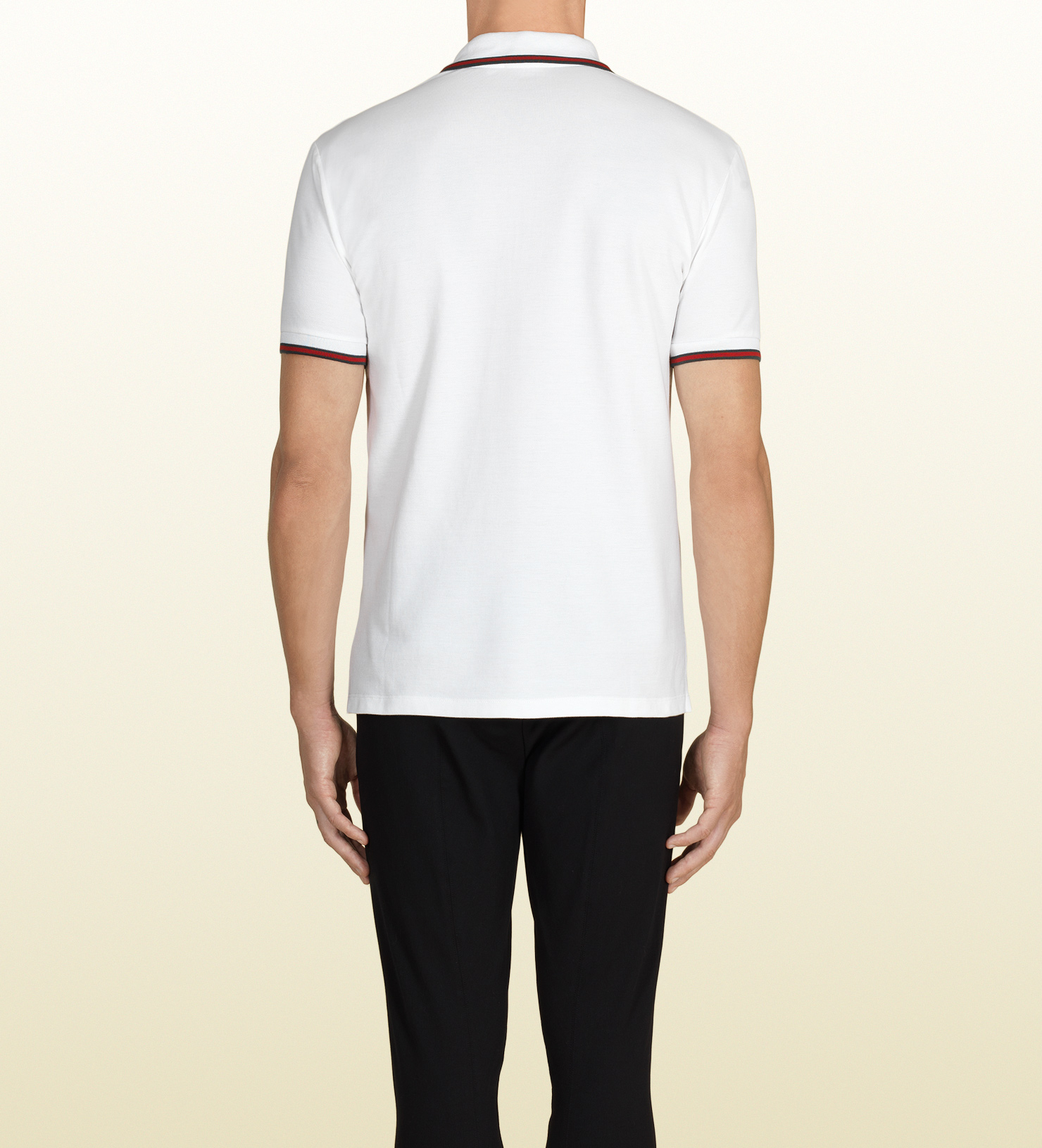 1997eeefe972 Gucci White Polo Shirt in White for Men - Lyst