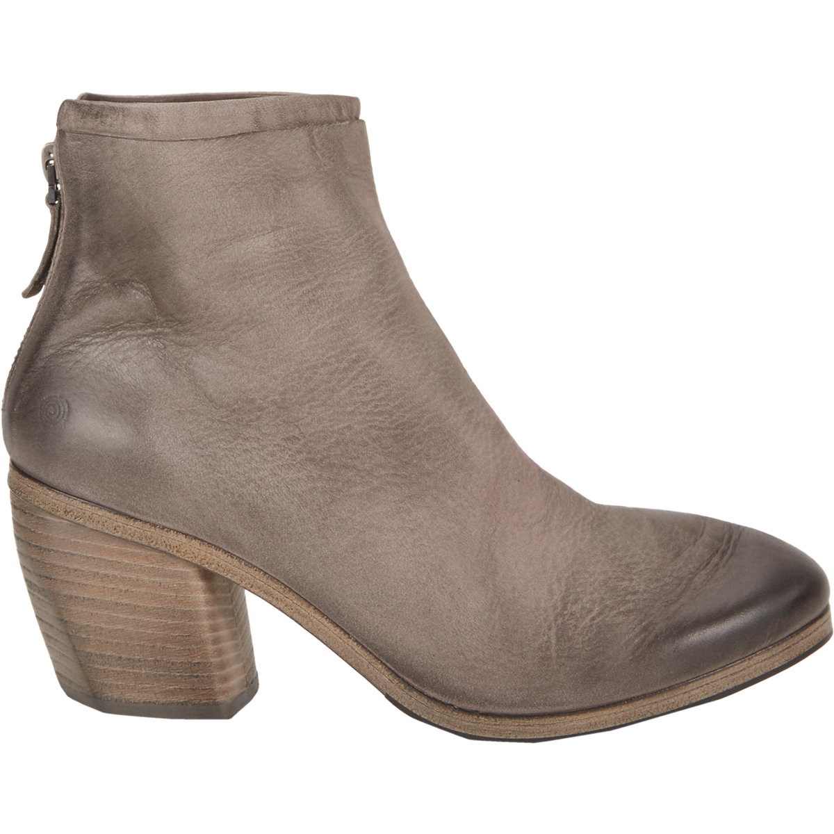 mars ll layered back zip ankle boots in gray lyst. Black Bedroom Furniture Sets. Home Design Ideas