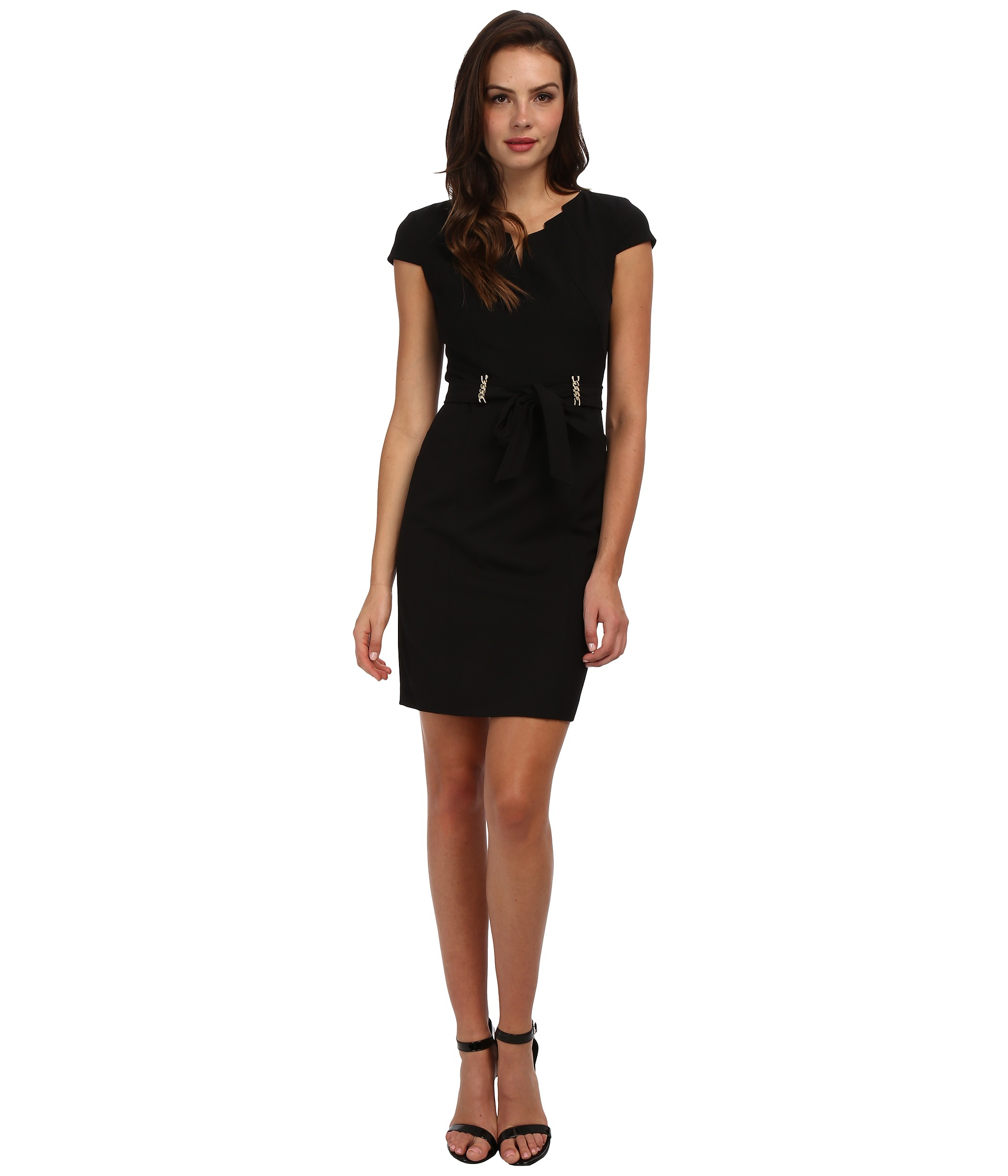 Ellen tracy bistretch career dress with neck cutout in for Creer dressing