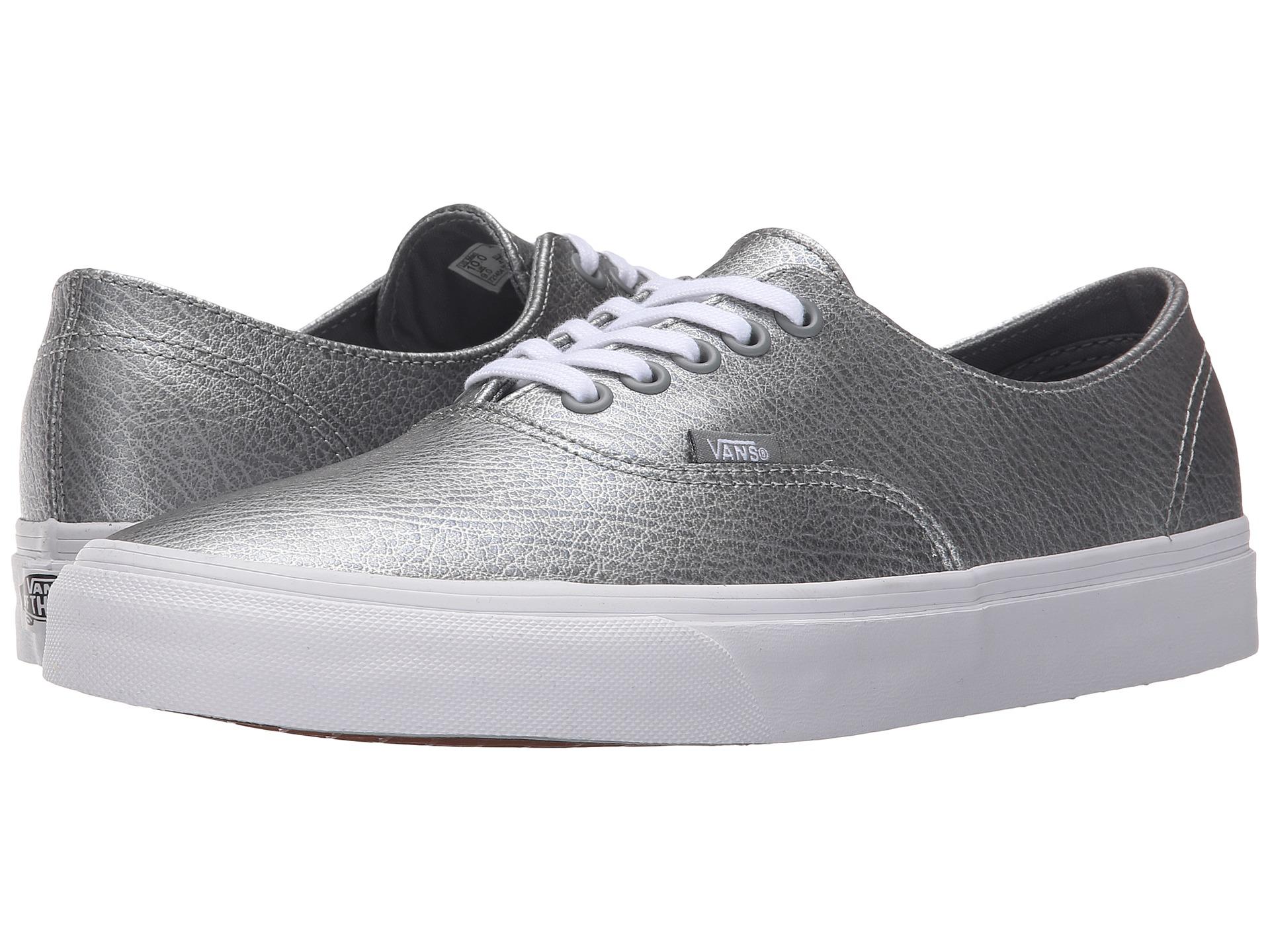 Vans Vans Unisex Metallic Leather Authentic Decon Sneaker Gray All the Best