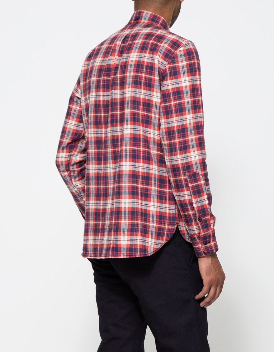 Lyst Rogue Territory Jumper Shirt Red Plaid In Blue For Men
