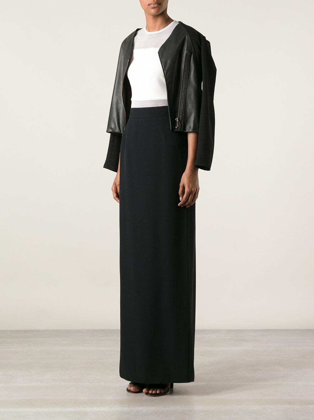 mcqueen maxi pencil skirt in black lyst