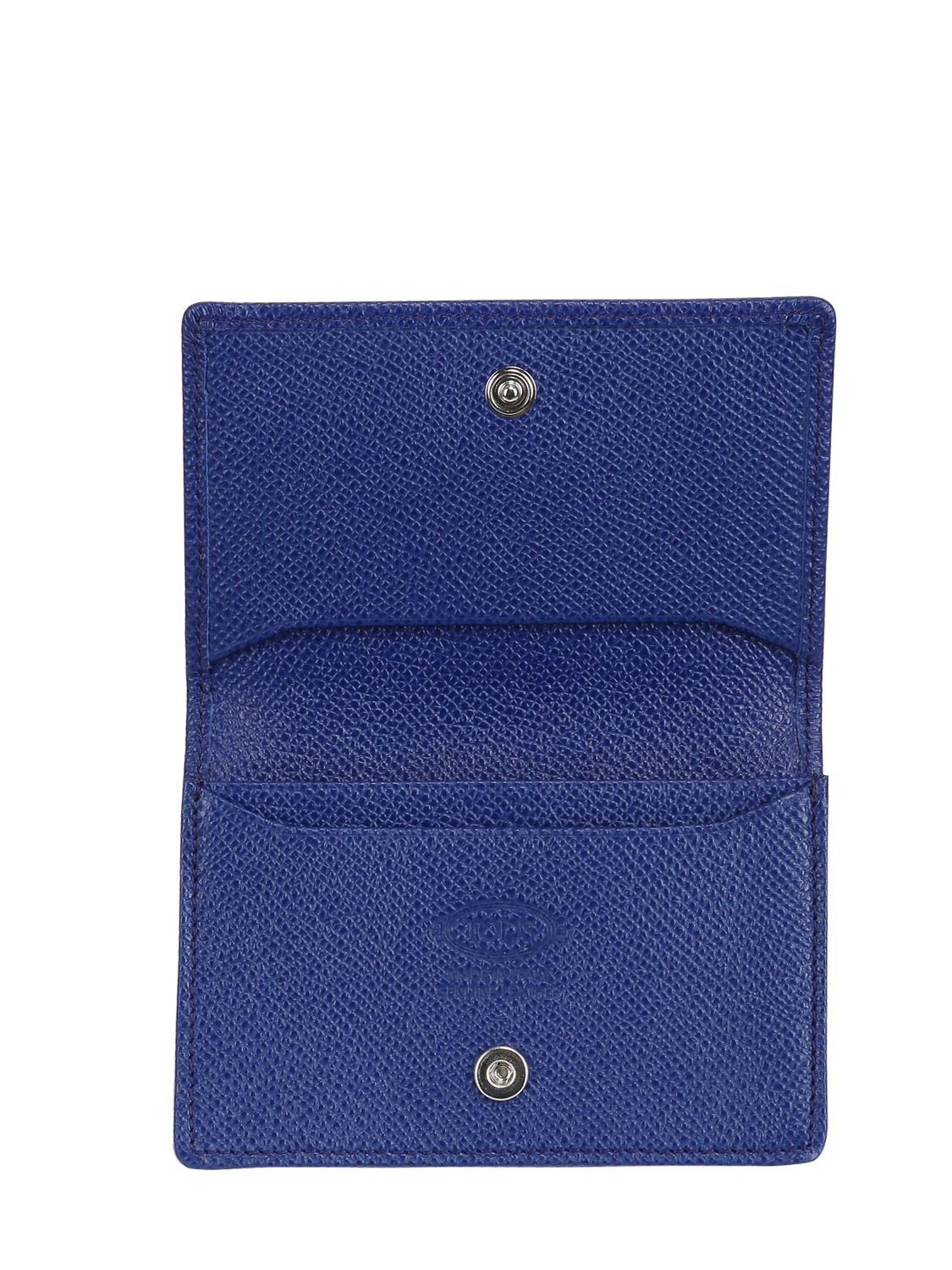 tod's leather business card holder in blue for men  lyst