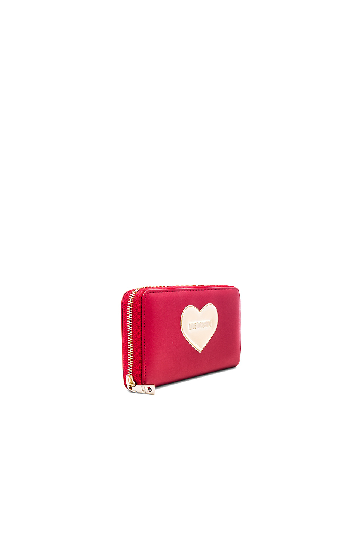 forma Love Red con de corazón Moschino Monedero qX1SB5wn