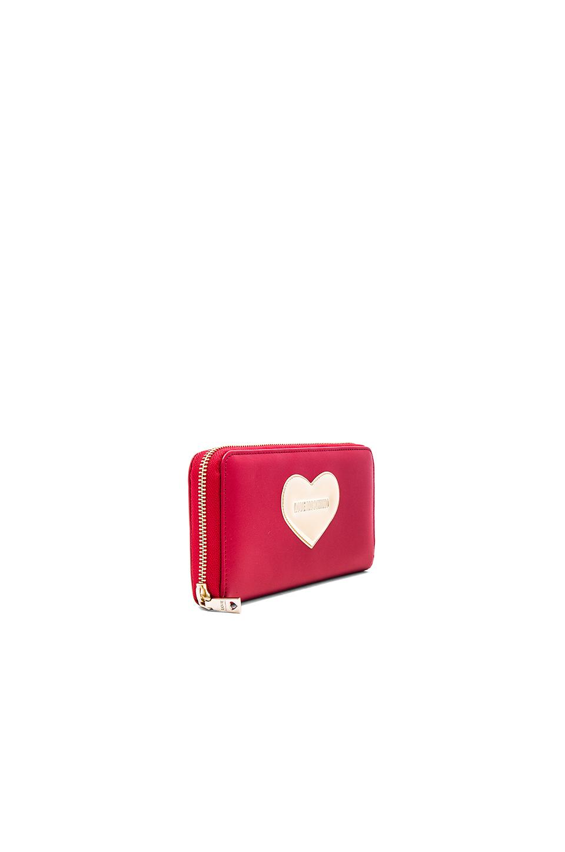 Love Red forma Monedero Moschino corazón de con 1XqwPB