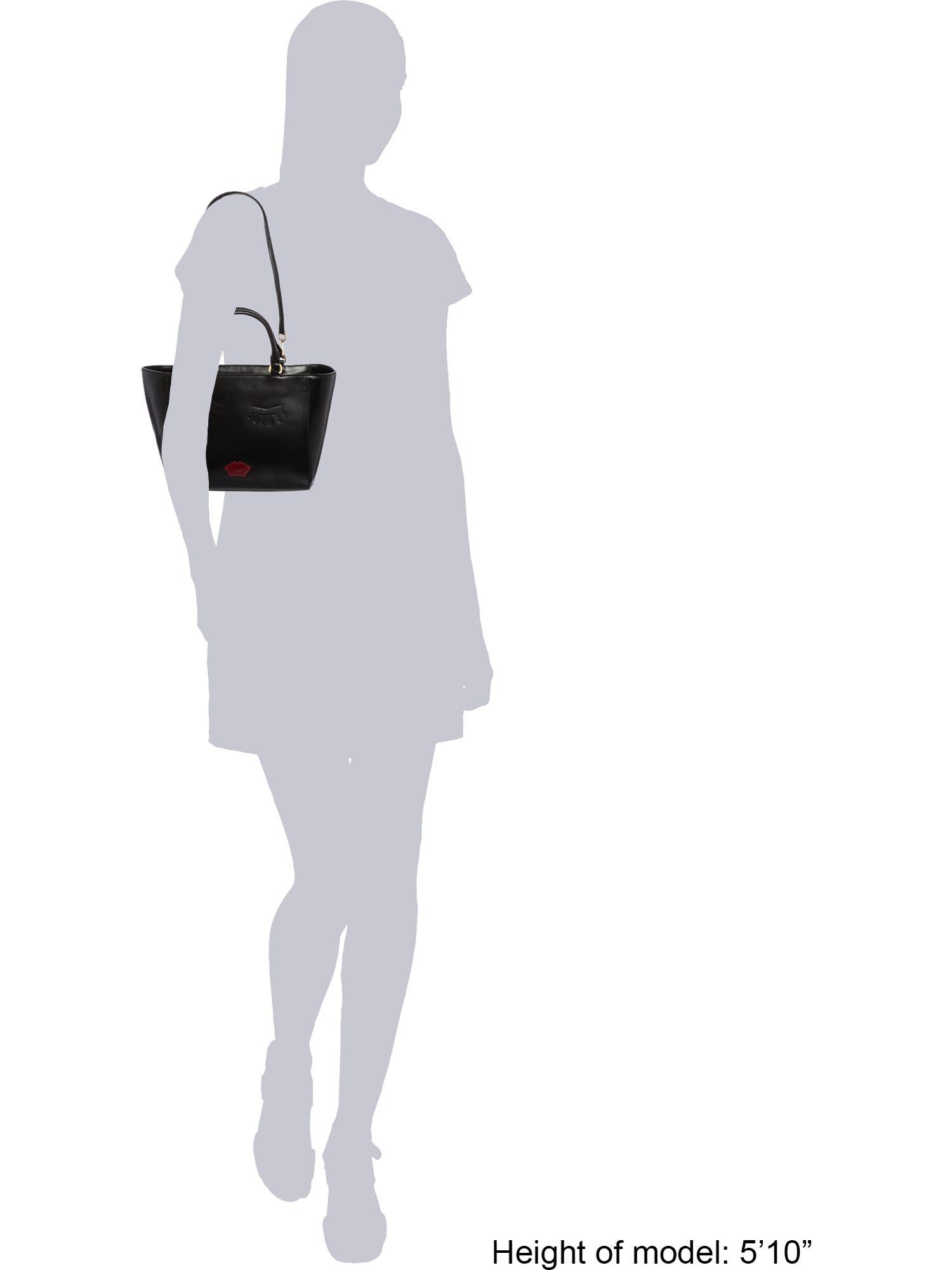 Lulu Guinness Casca Black Medium Tote Bag
