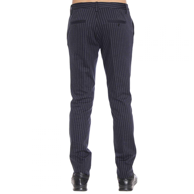 Patrizia Pepe Trouser Slant Pocket Pinstripe In Blue For