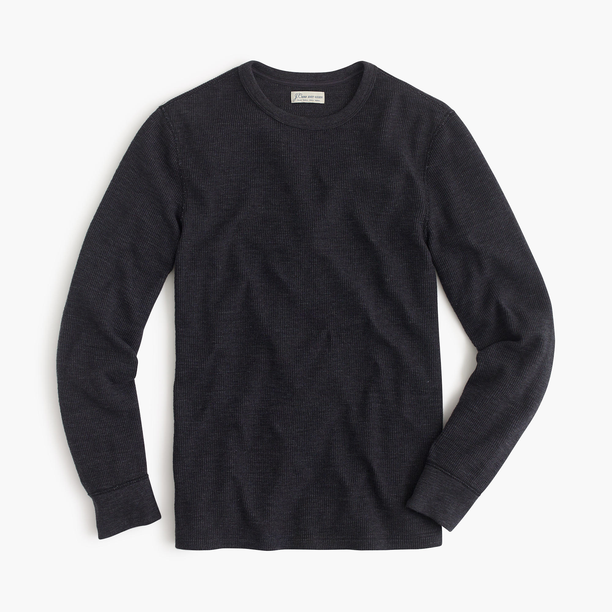 Slim long sleeve thermal t shirt in black for men for Mens black thermal t shirts