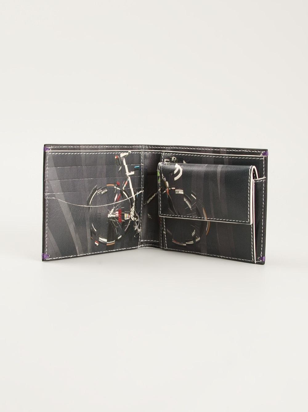 Paul Smith Bike Print Billfold Wallet In Black For Men Lyst