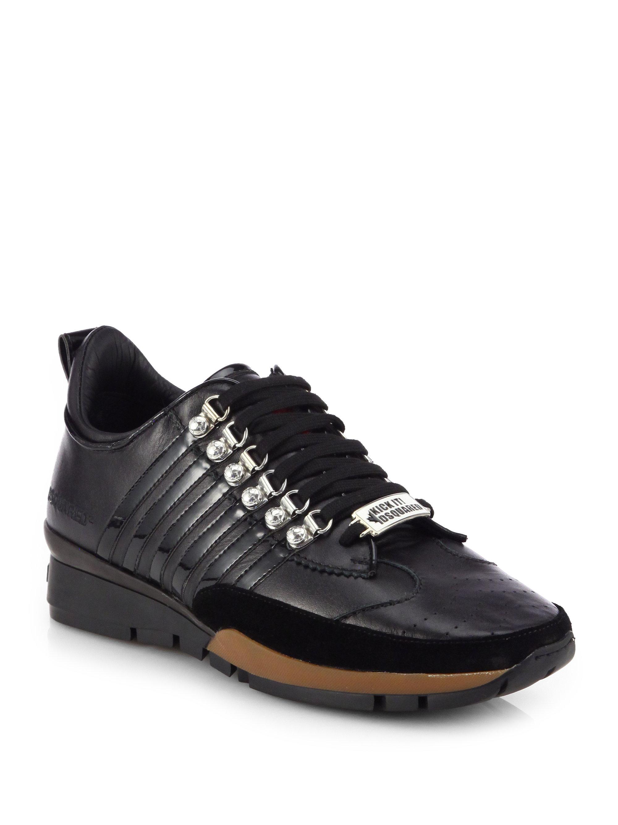 Dsquared 178 Vitello Sport Running Shoes In Black For Men Lyst