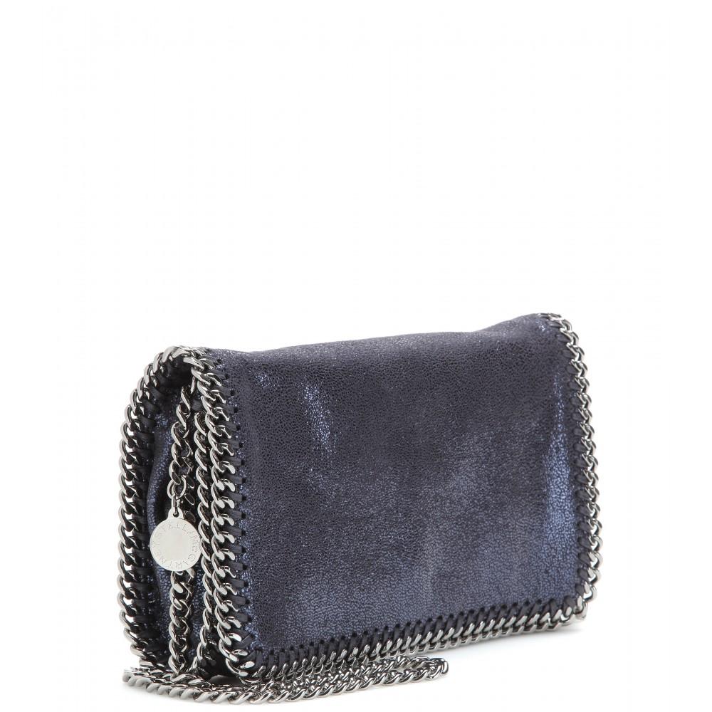 f02bccf94518 Stella McCartney Falabella Shaggy Deer Mini Shoulder Bag in Blue - Lyst