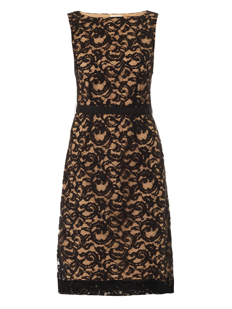 Lyst - Collette By Collette Dinnigan Corded Lace Dress in ...